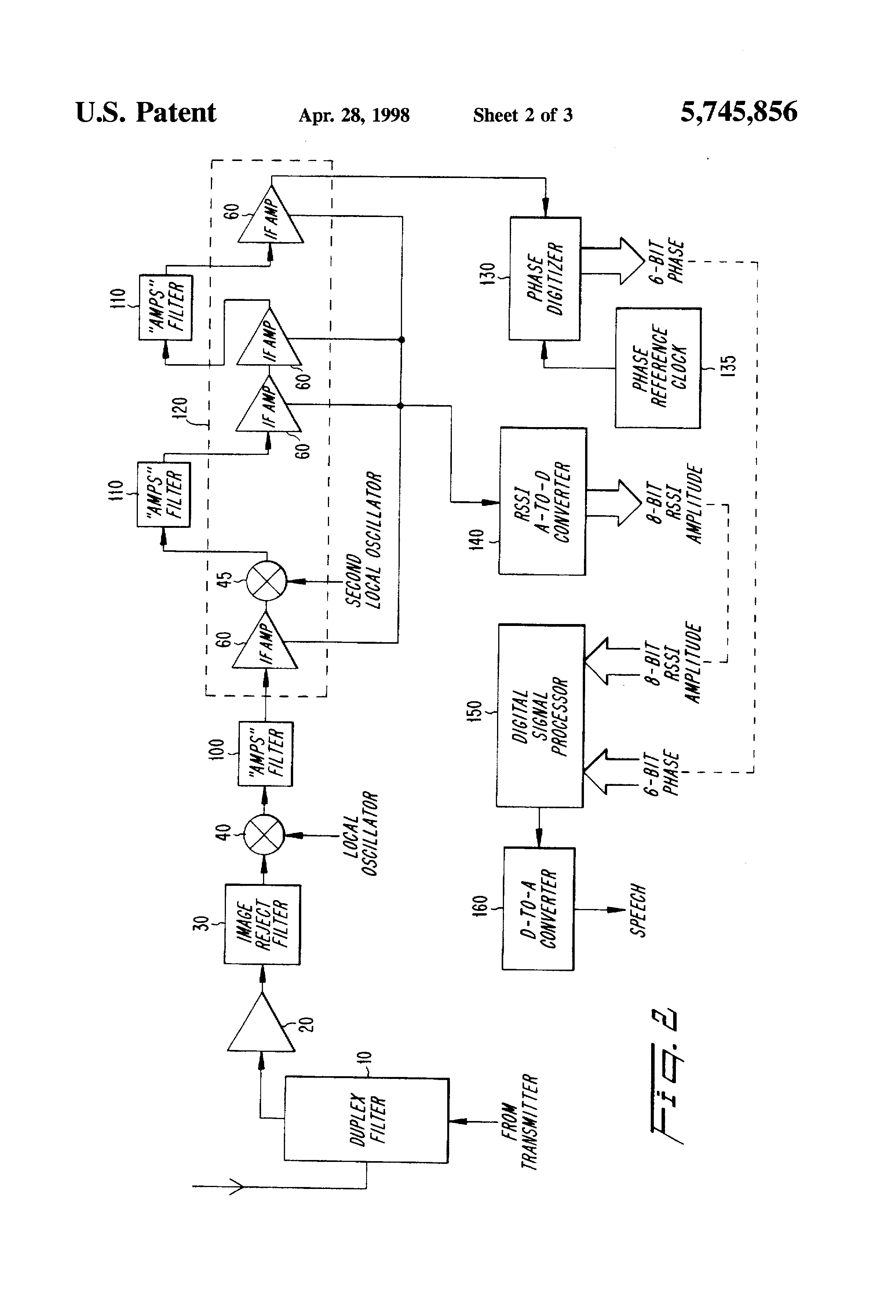Patent Us5745856 Radio Receiver For Demodulating Both Wideband And Small Power Narrowband Fm Receiving Integrated Circuit From Drawing