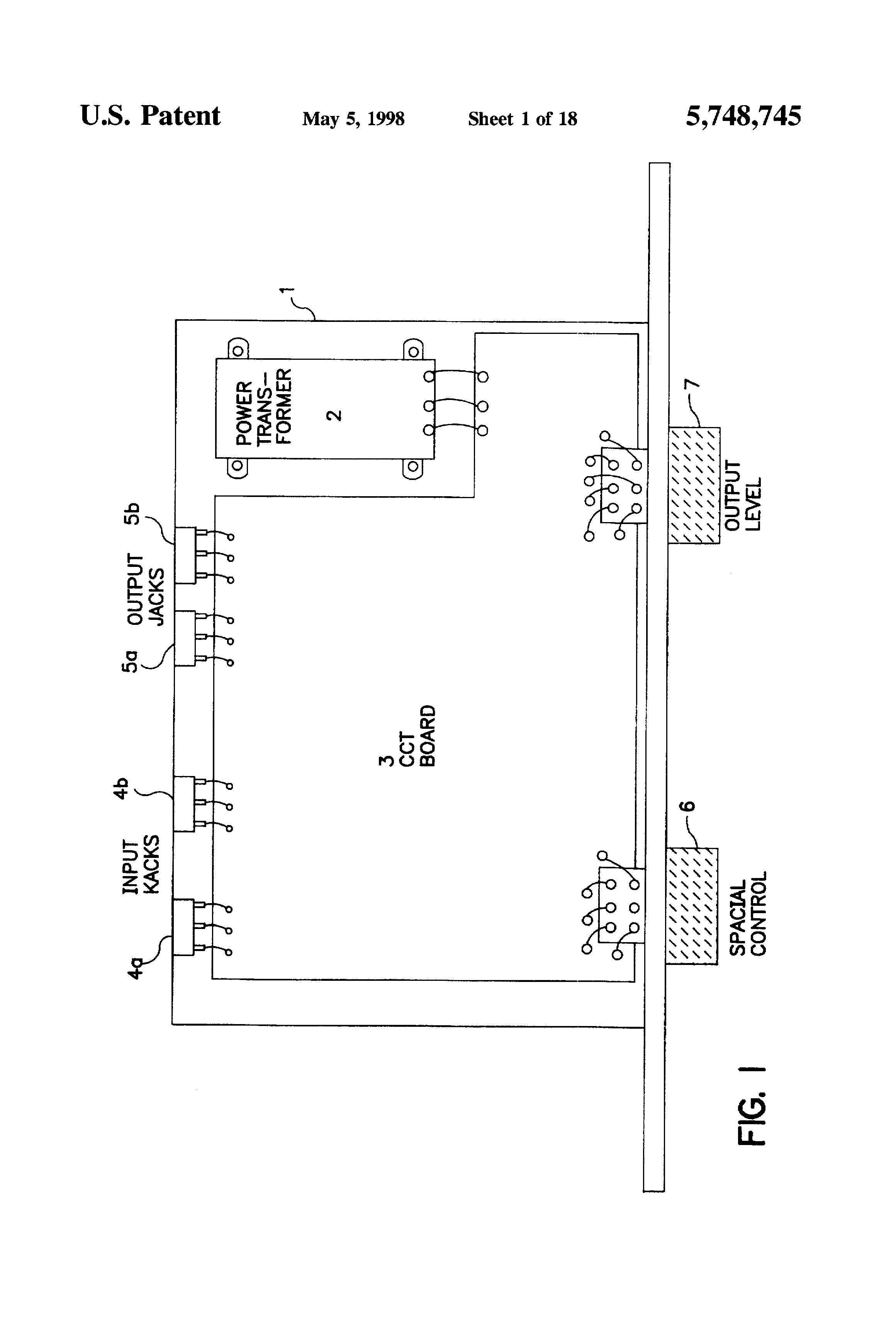 Patent Us5748745 Analog Vector Processor And Method For Producing Chip Stereo Player Integrated Circuit Diagram Amplifiercircuits Drawing