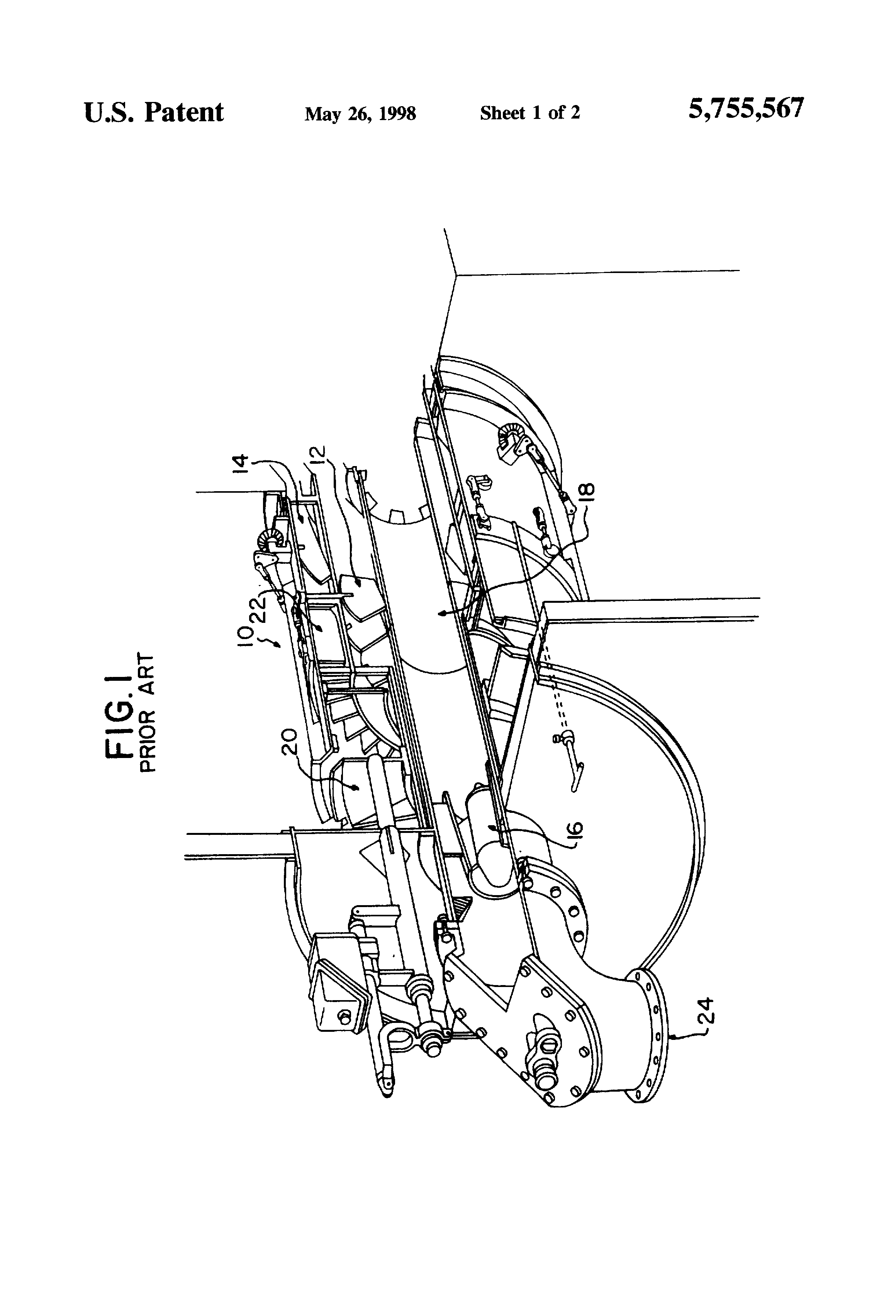 Patent Us5755567 Low Vortex Spin Vanes For Burners And Overfire Band Saw Wiring Diagrams Drawing