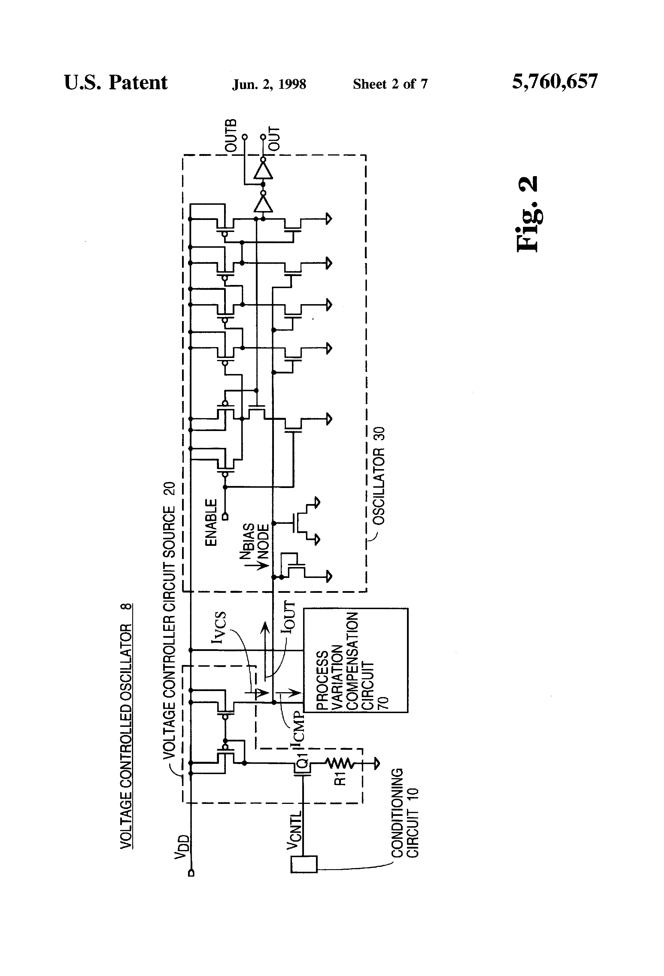 Us5760657 Method And Apparatus Employing A Process Vco Circuit Diagram Patent Drawing