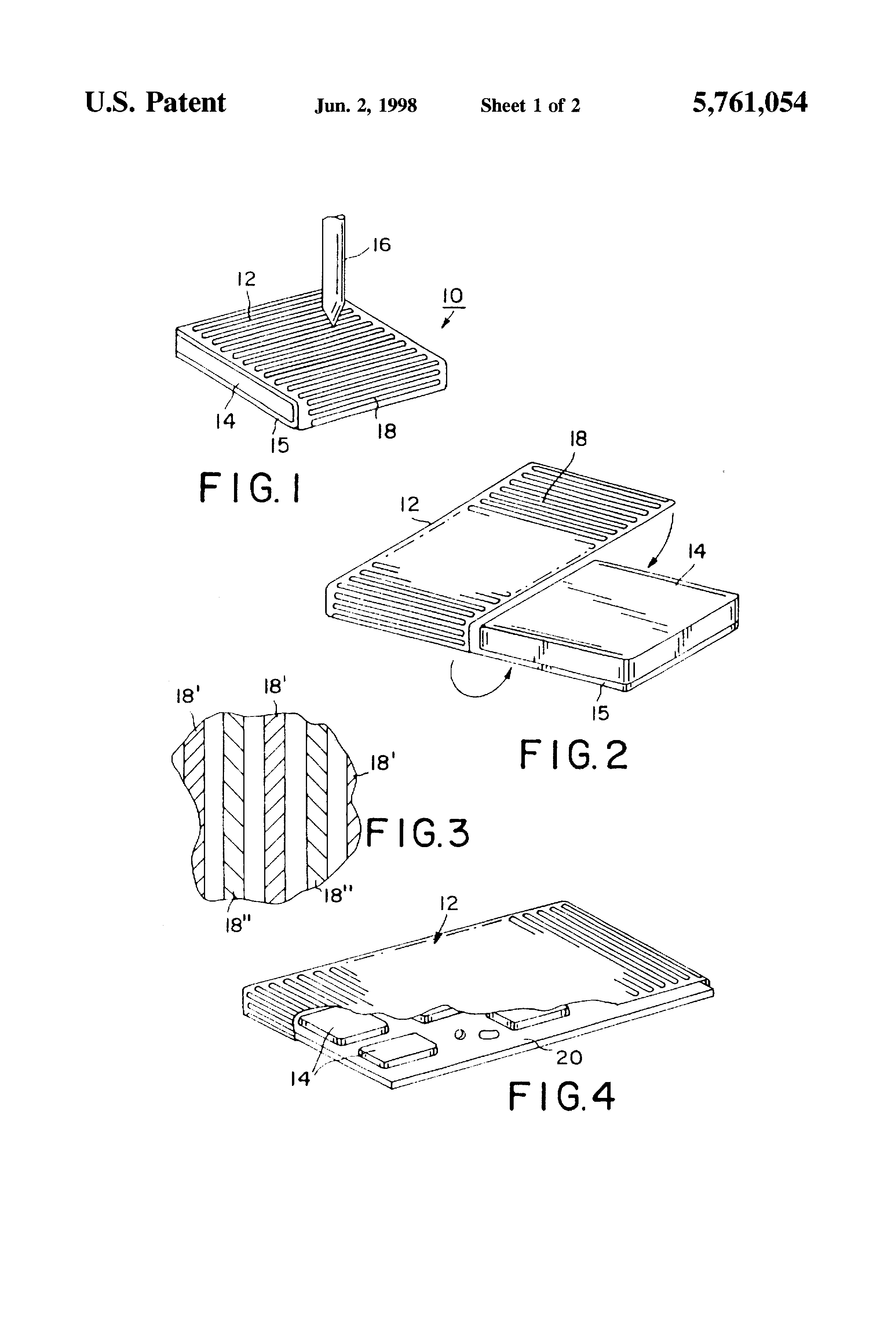 Patent Us5761054 Integrated Circuit Assembly Preventing Intrusions Electronic Circuits Explained Drawing