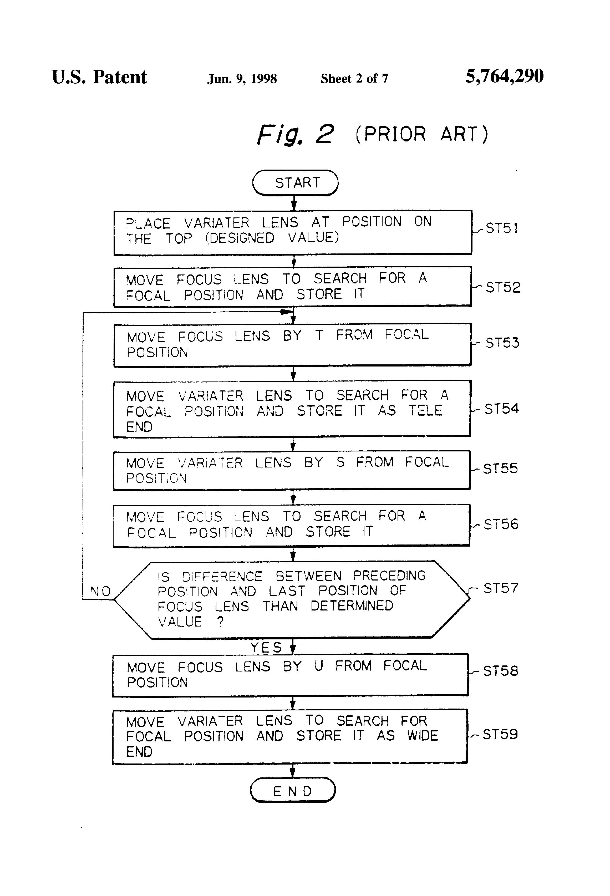 Patent US5764290 - Flange-back adjusting method and