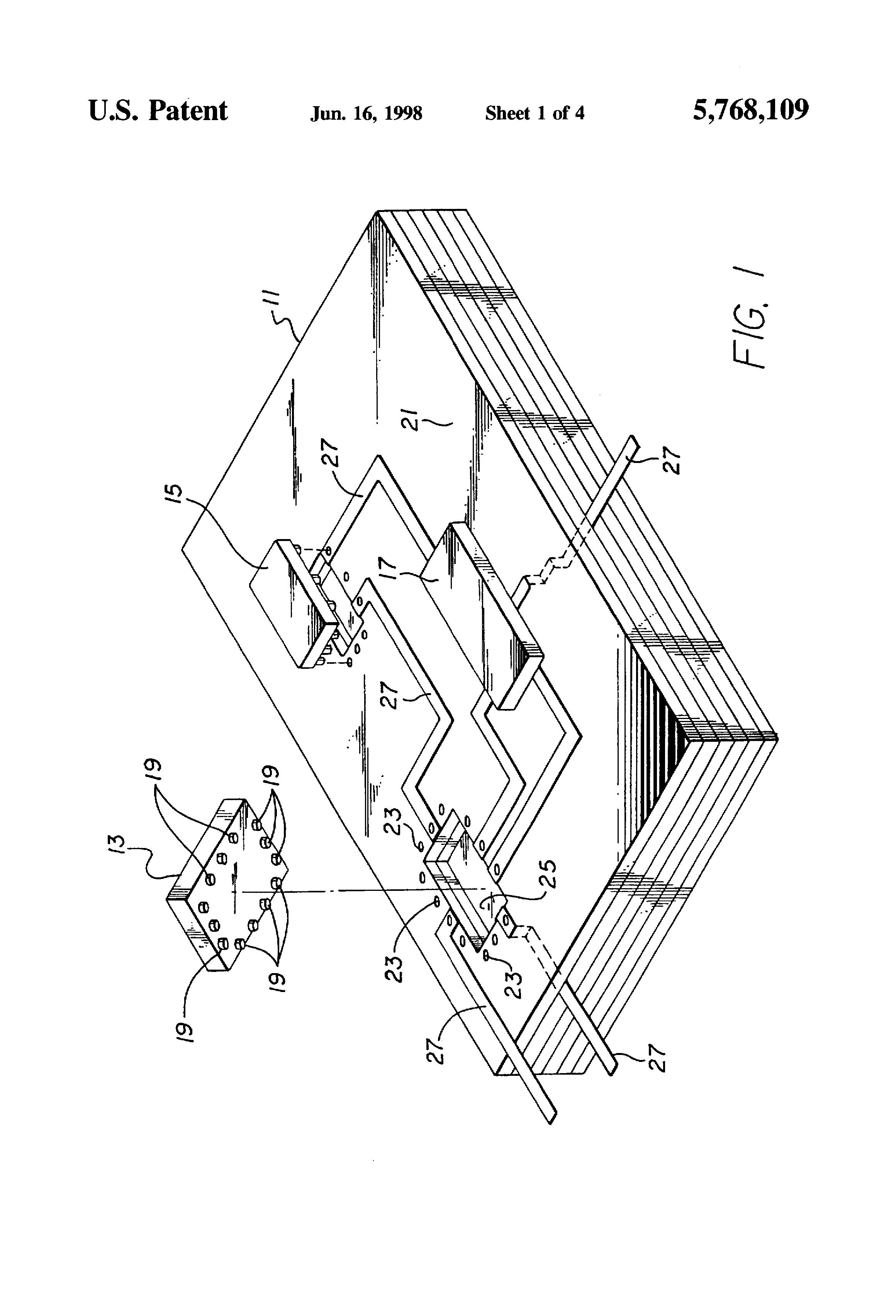 Patent Us5768109 Multi Layer Circuit Board And Semiconductor Flip Multilayer Wiring Drawing