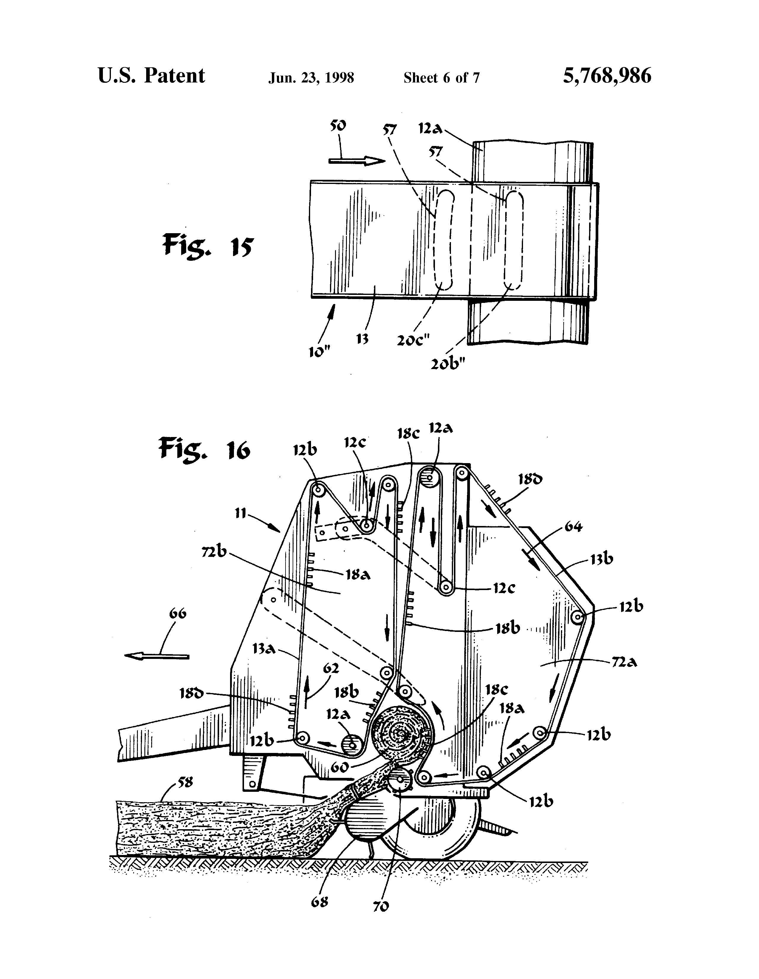 Patent Us5768986 - Crop Baler Belt System