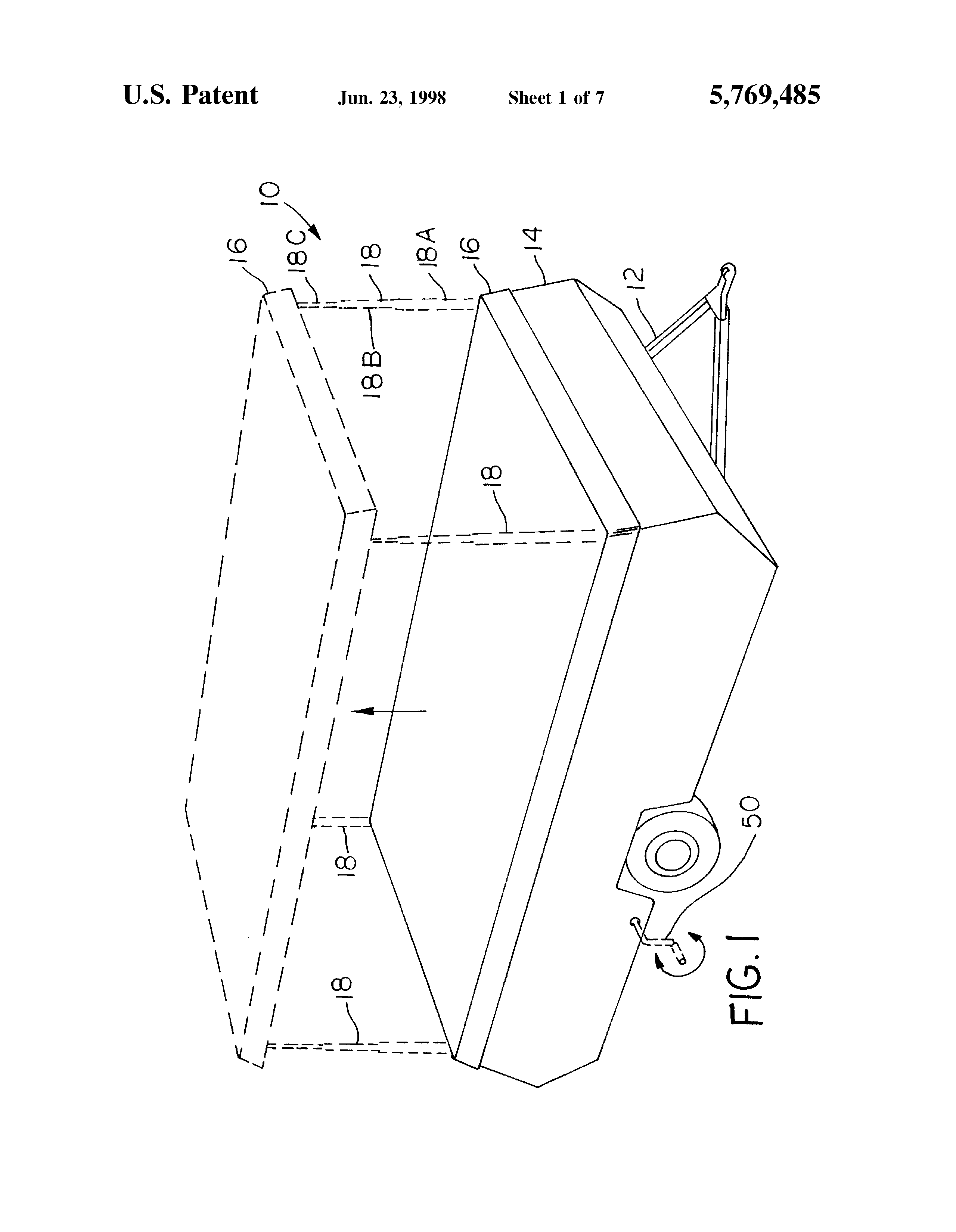 Patent US5769485 - Top lift system for pop-up campers - Google Patents