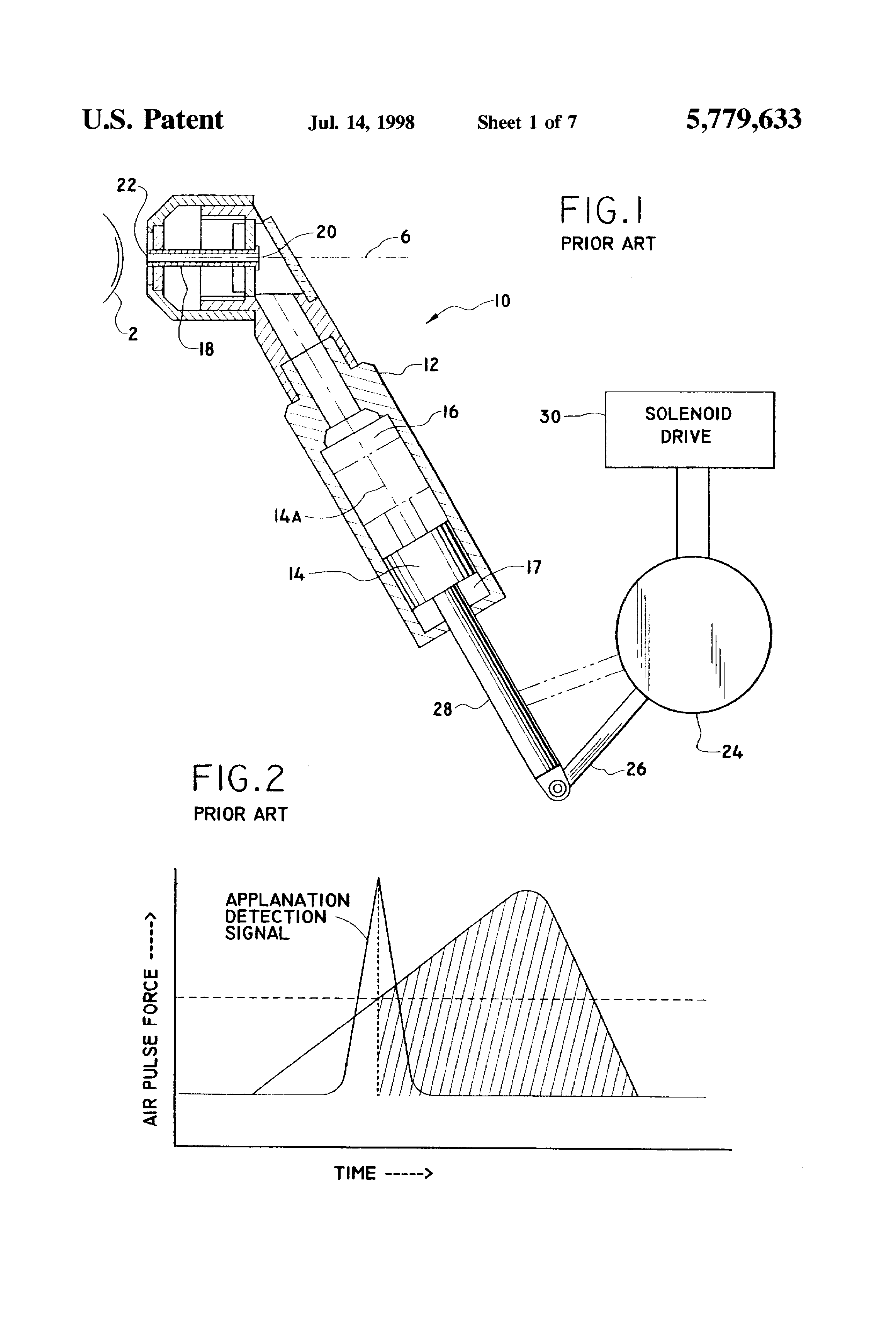 patent us5779633 - tonometer air pulse generator