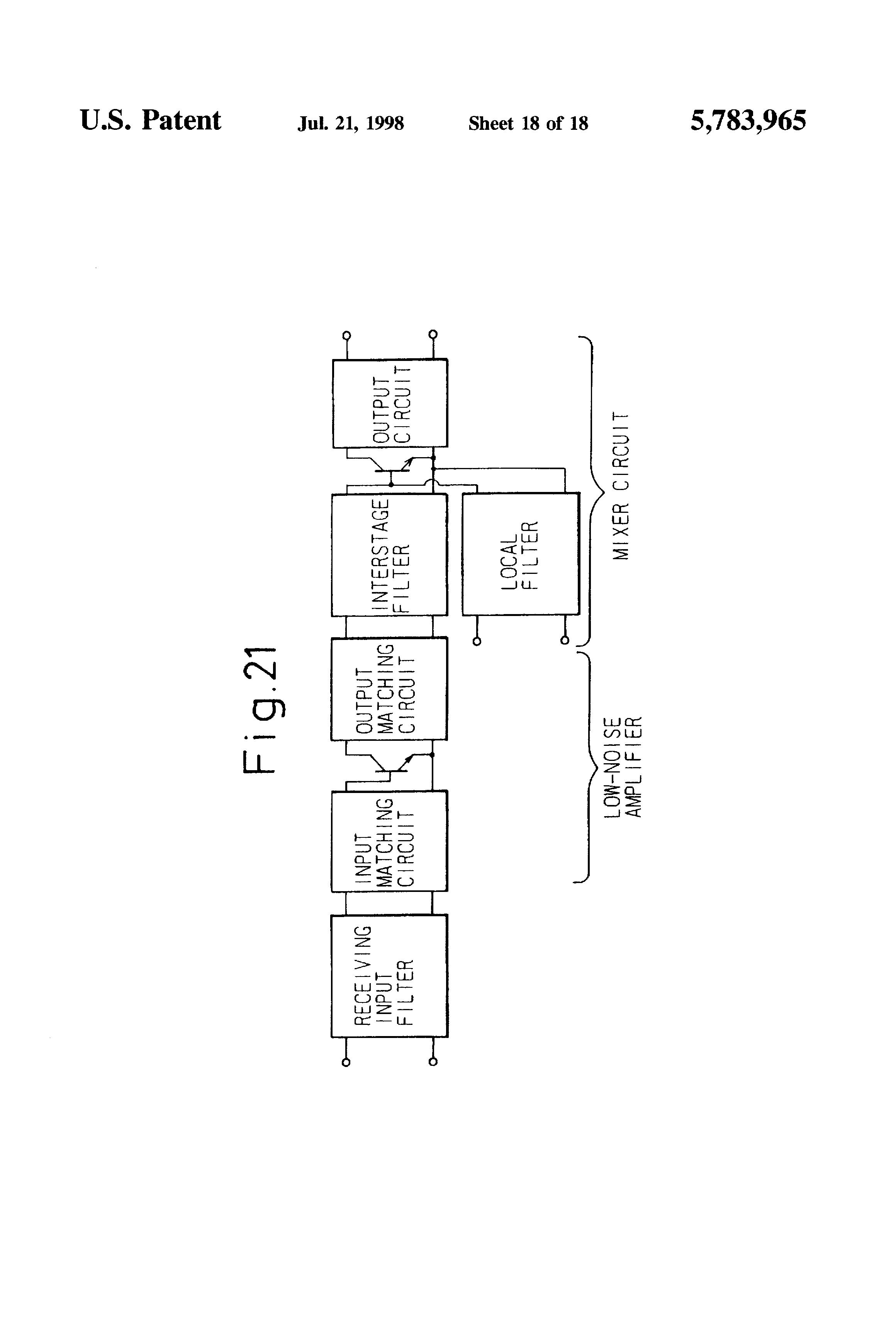 Patente Us5783965 Bias Circuit Google Patentes Bandpass Filter Diagram Basiccircuit Patent Drawing