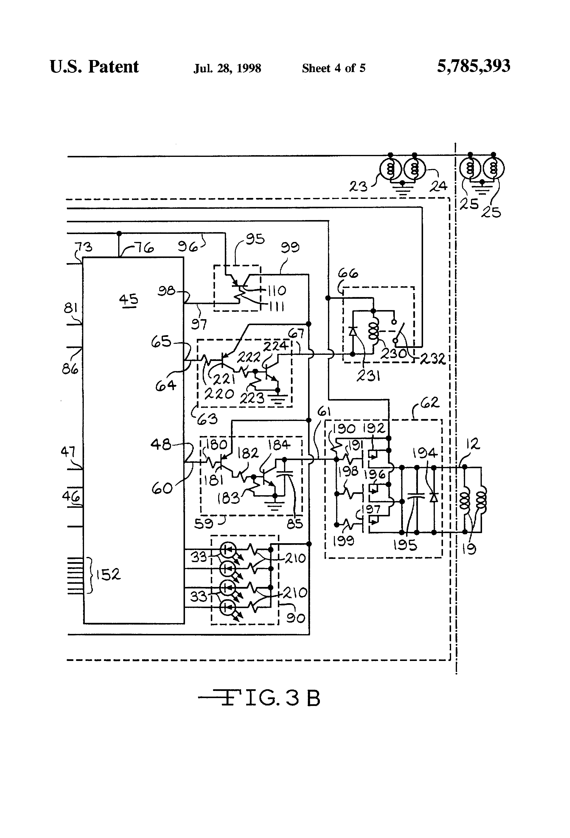 patent us5785393 - electronic trailer brake controller with pendulum zero adjust