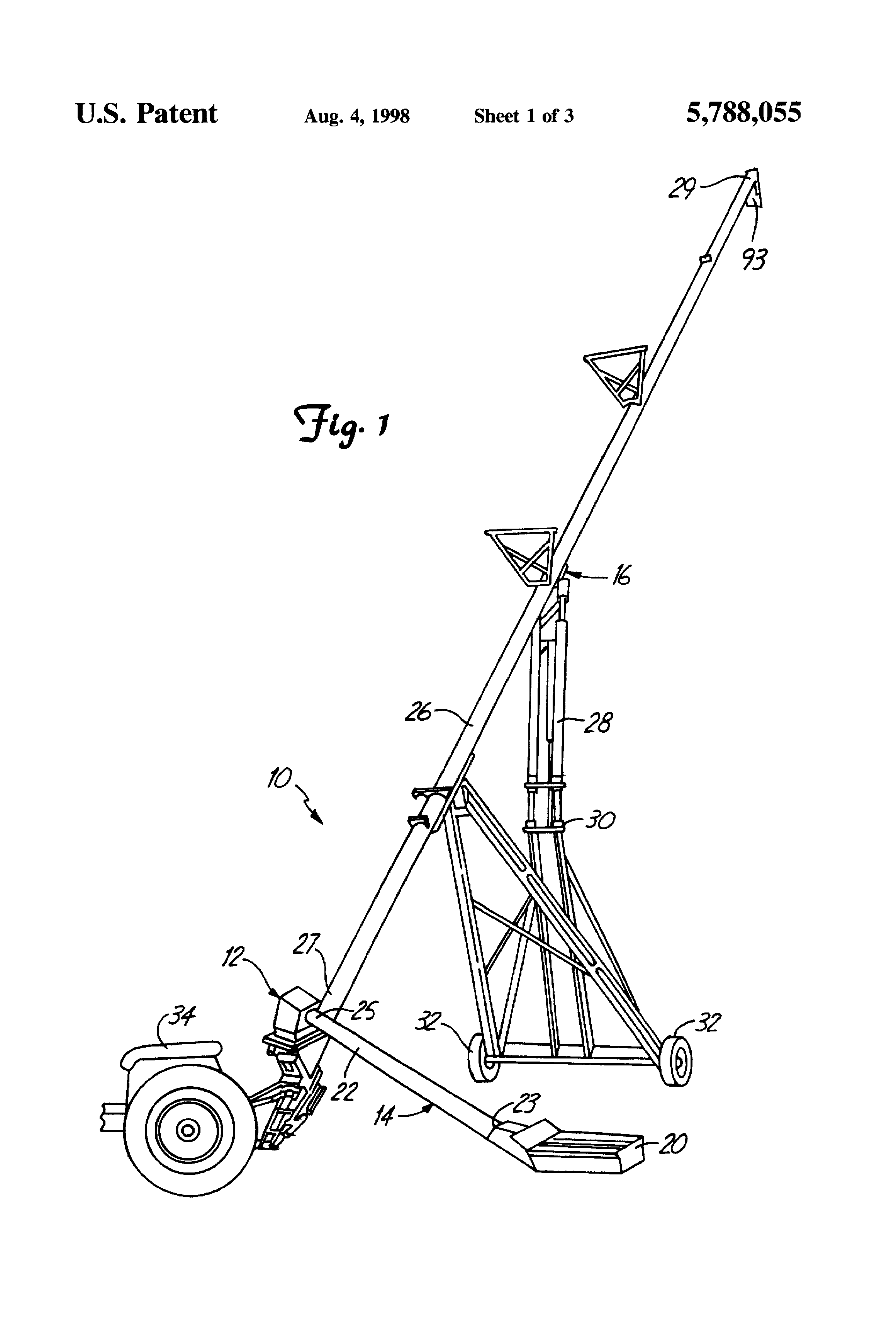 براءة الاختراع US5788055 - Auger with sealed hopper joint