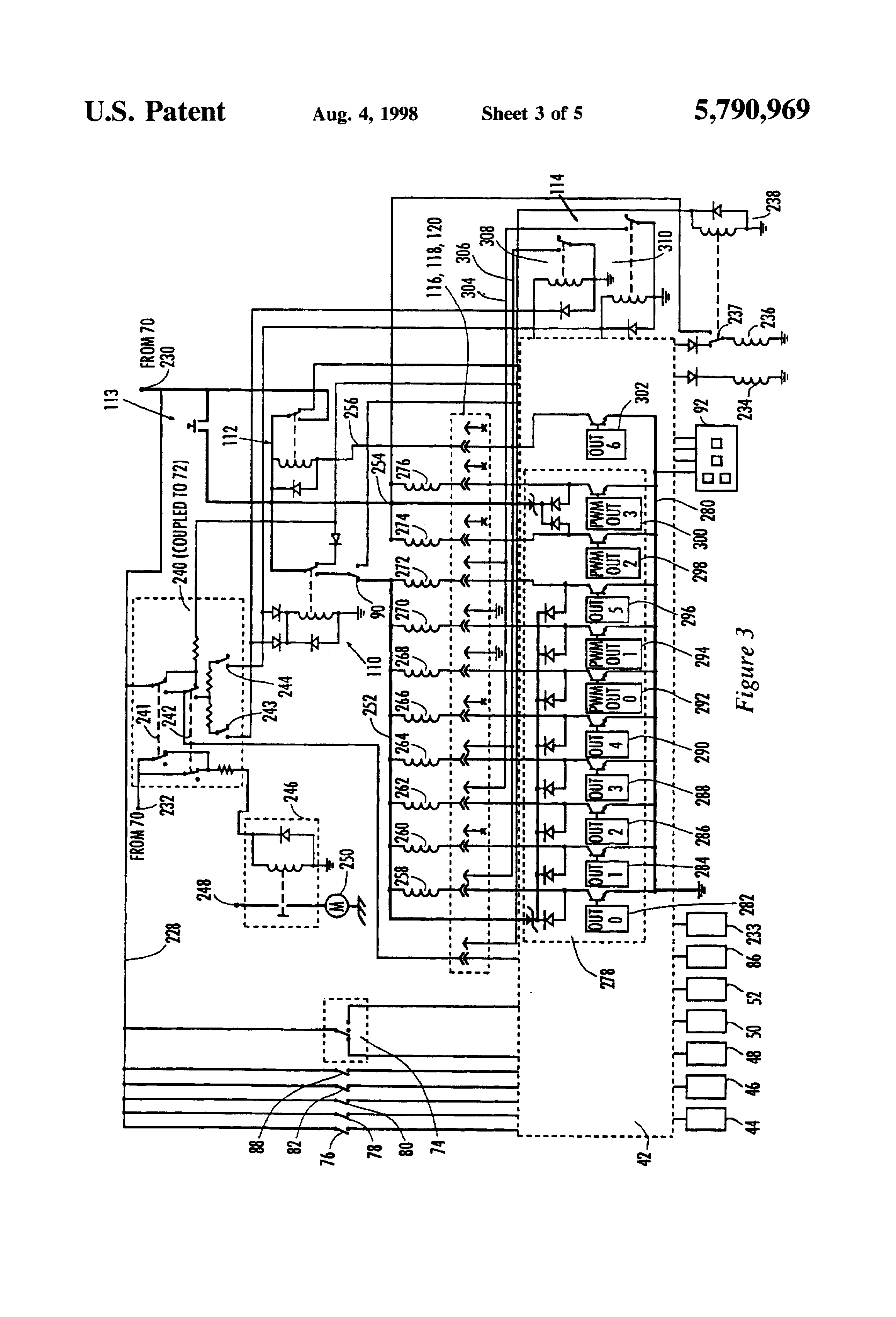 circuit diagram drawing images patent us5790969 switch activated limp home circuit for