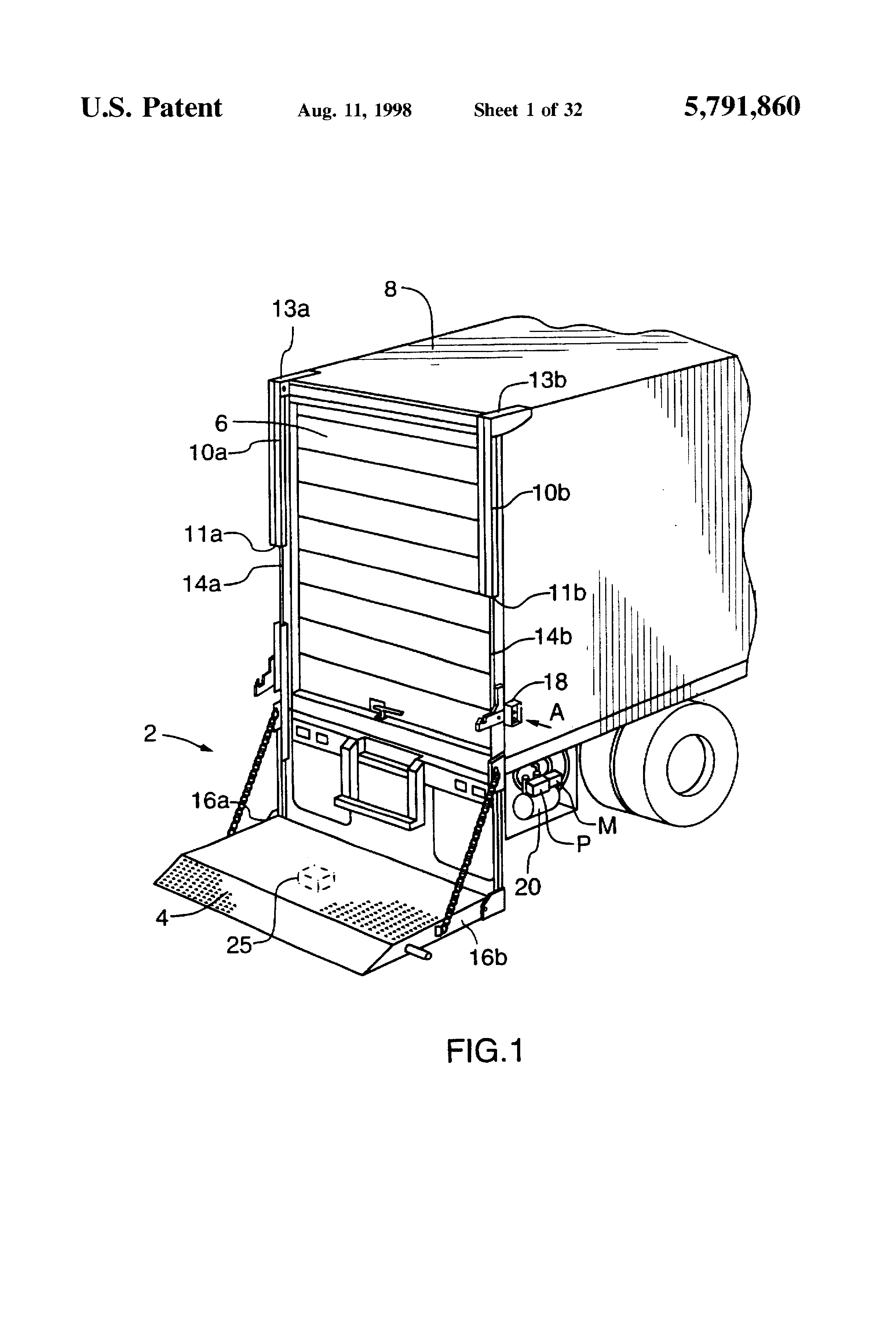 patent us hydraulic platform lift for a truck tailgate patent drawing
