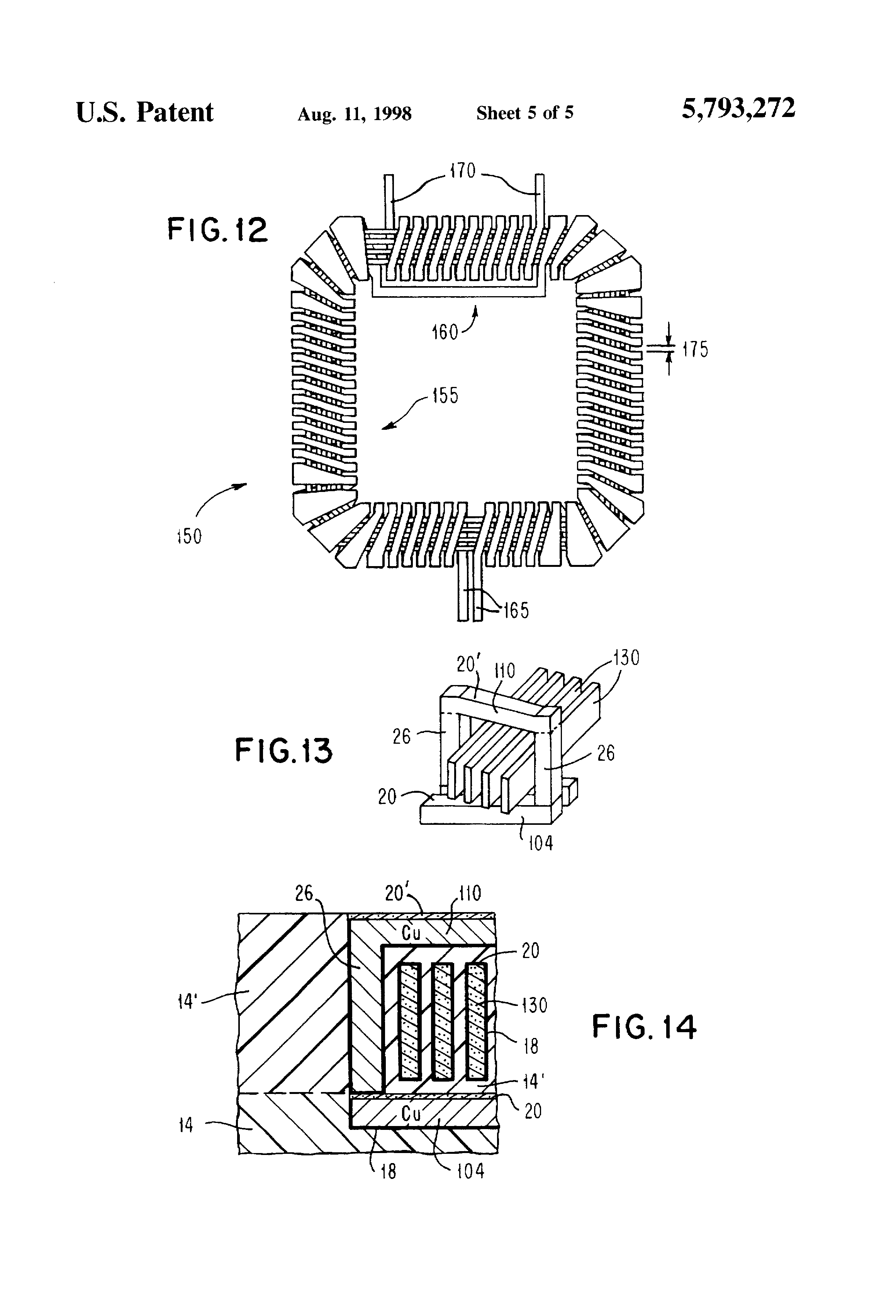 patent us5793272 - integrated circuit toroidal inductor