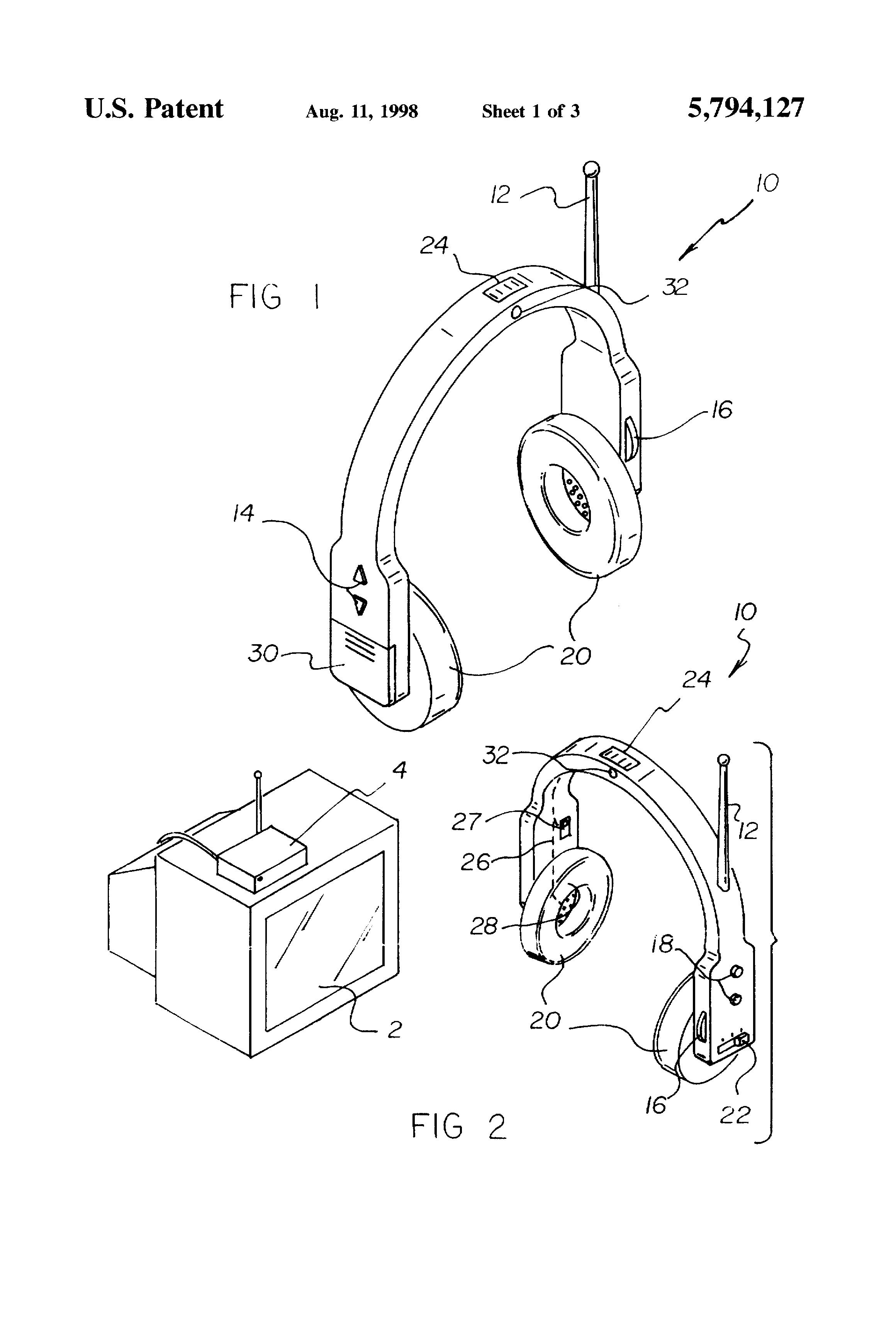 patent us5794127