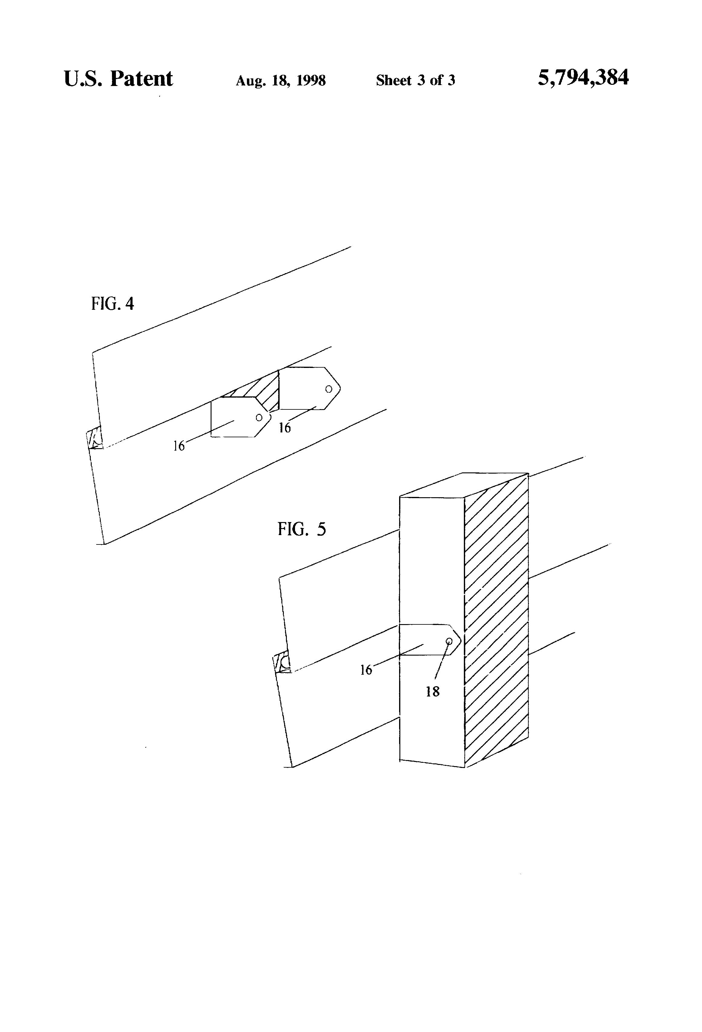 Patent Us5794384 Plastic Clip For Downspout Attachment