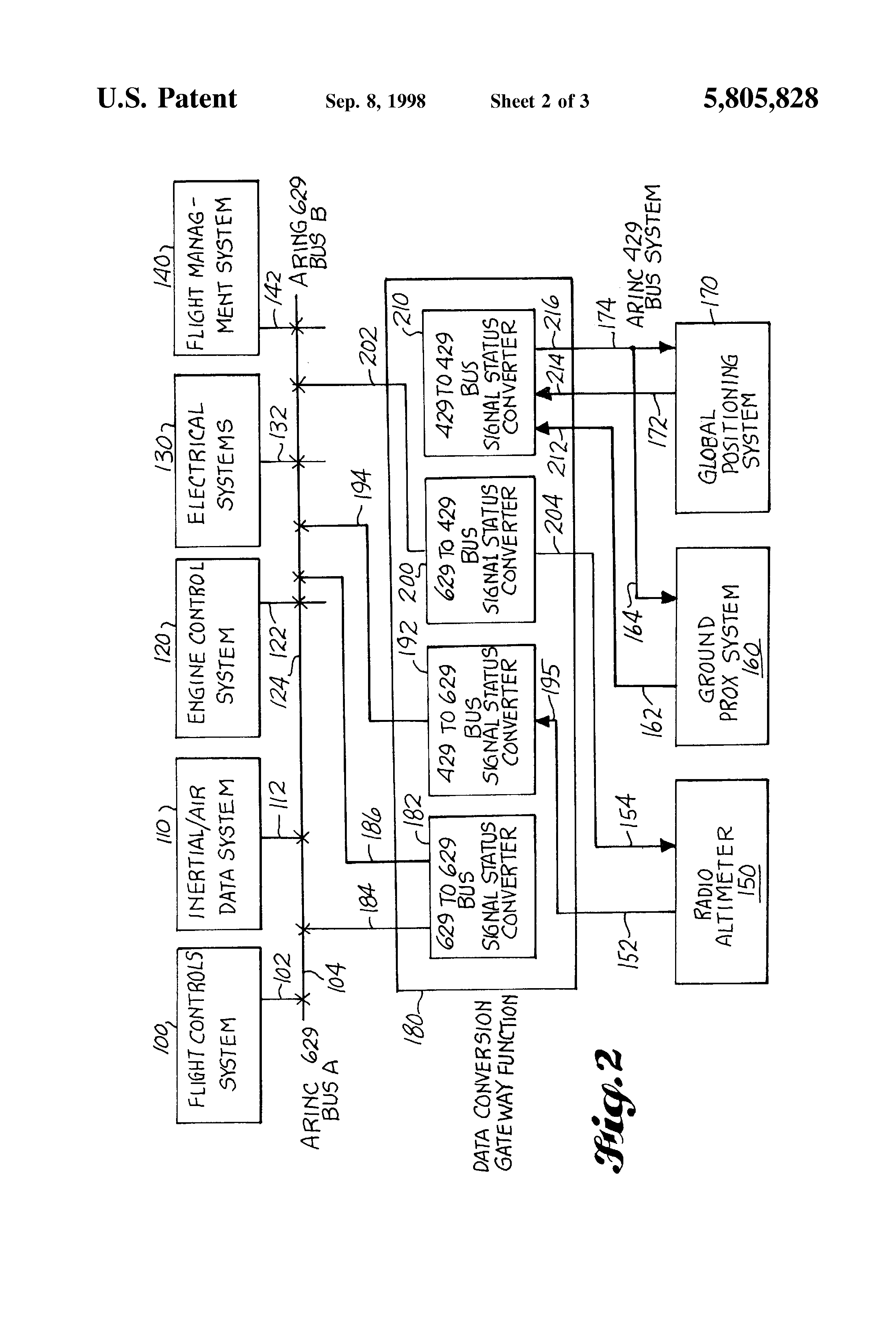 Patent Us5805828 Method And Apparatus For An Avionics System 2005 Dodge Caravan Fuse Box Drawing