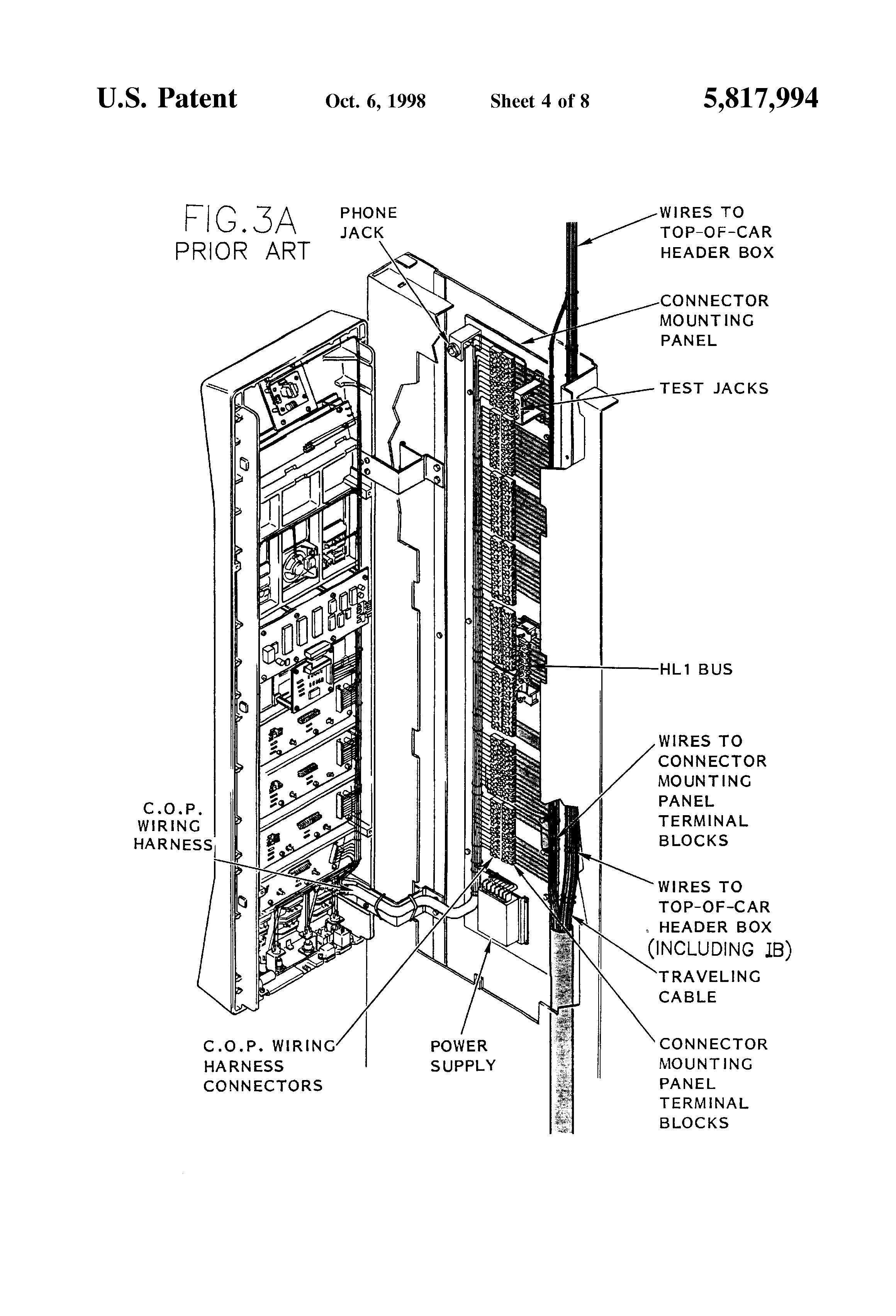 Home Elevator Wiring Diagram Great Design Of Otis Golf Cart Patent Us5817994 Remote Fail Safe Control For Schematic