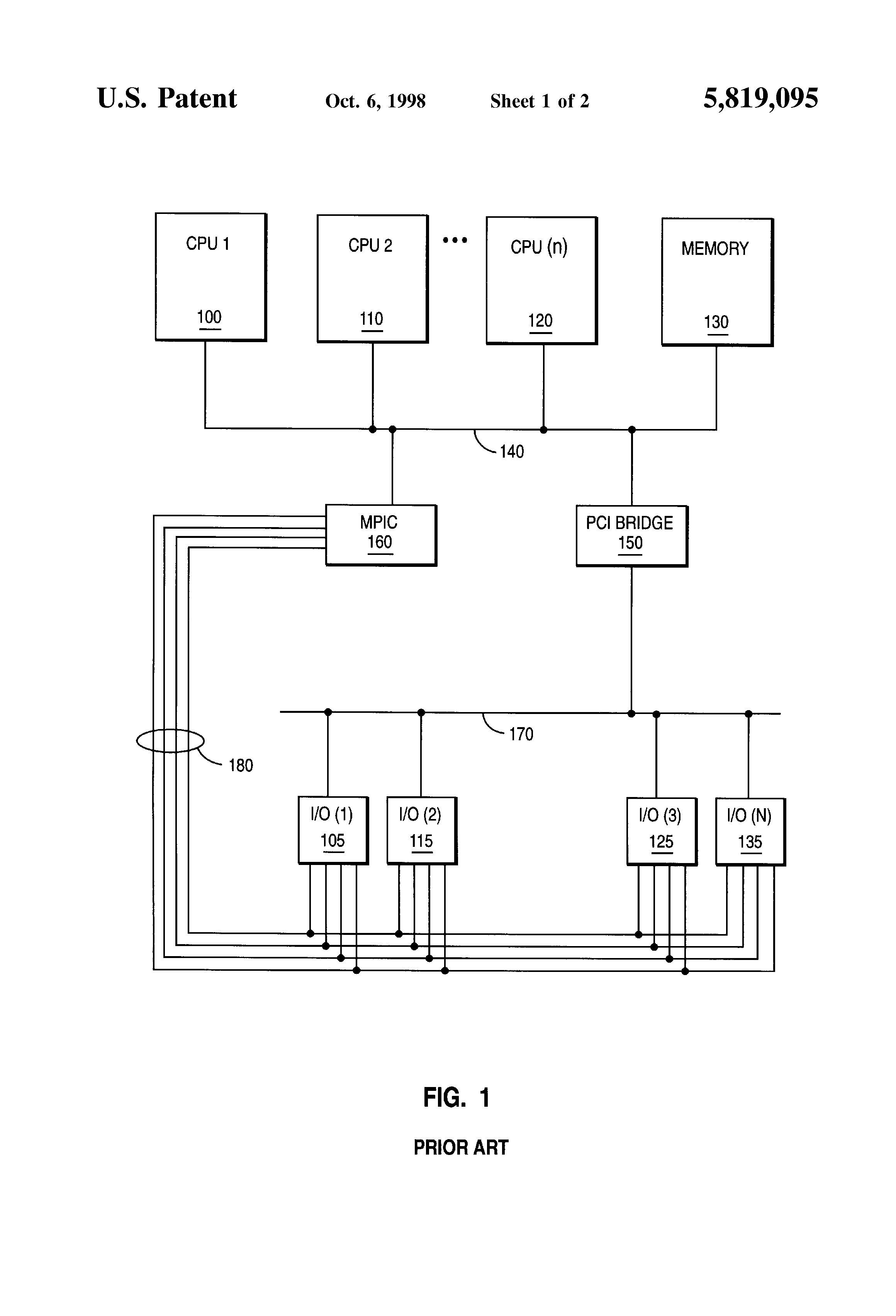 Patent Us5819095 Method And Apparatus For Allowing An Interrupt Fig2 It Has Been Attached Image Of The Motherboard Block Diagram Drawing