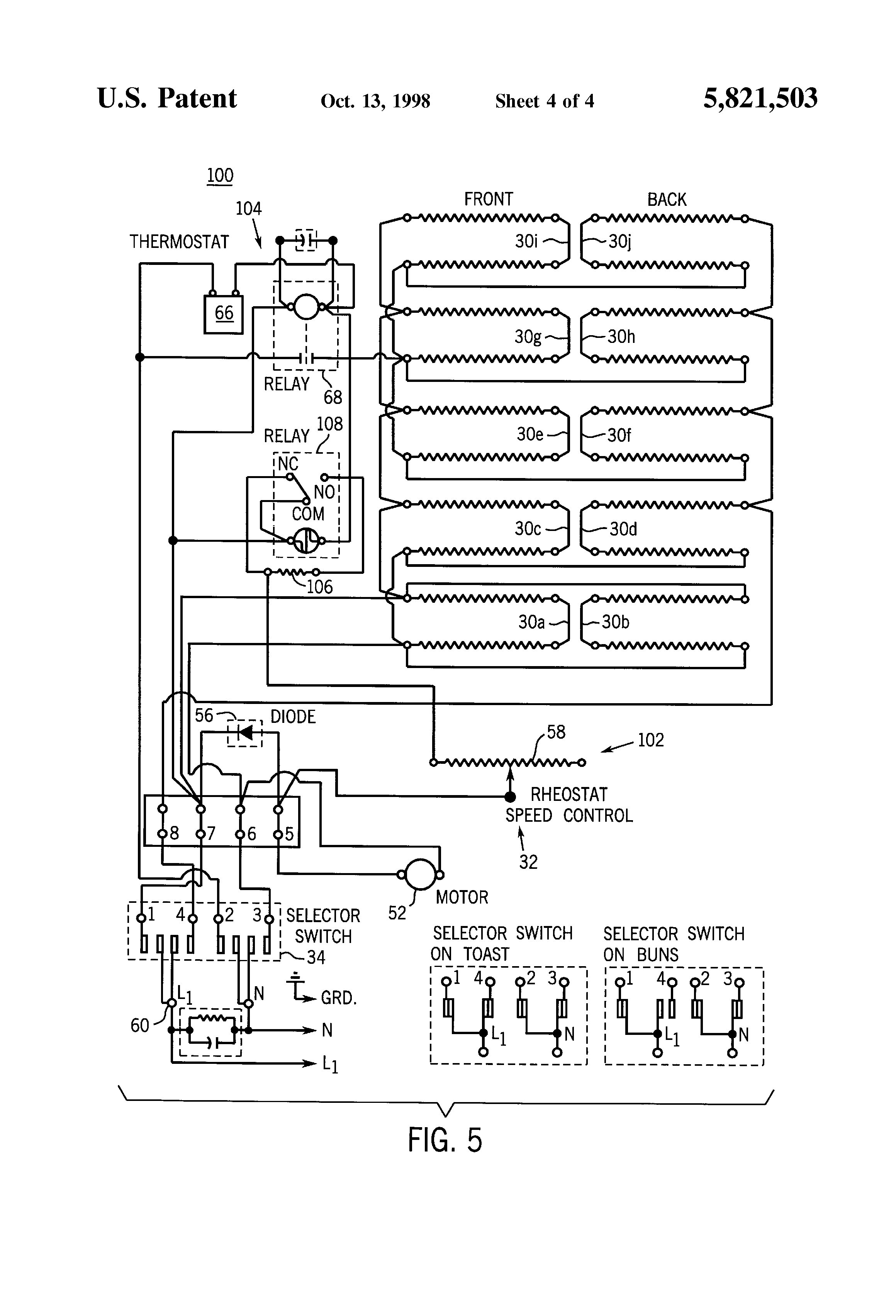 Wiring For Conveyors Great Design Of Diagram Four Pole Solenoid Patent Us5821503 Conveyor Speed Control Ciruit A 4 Light