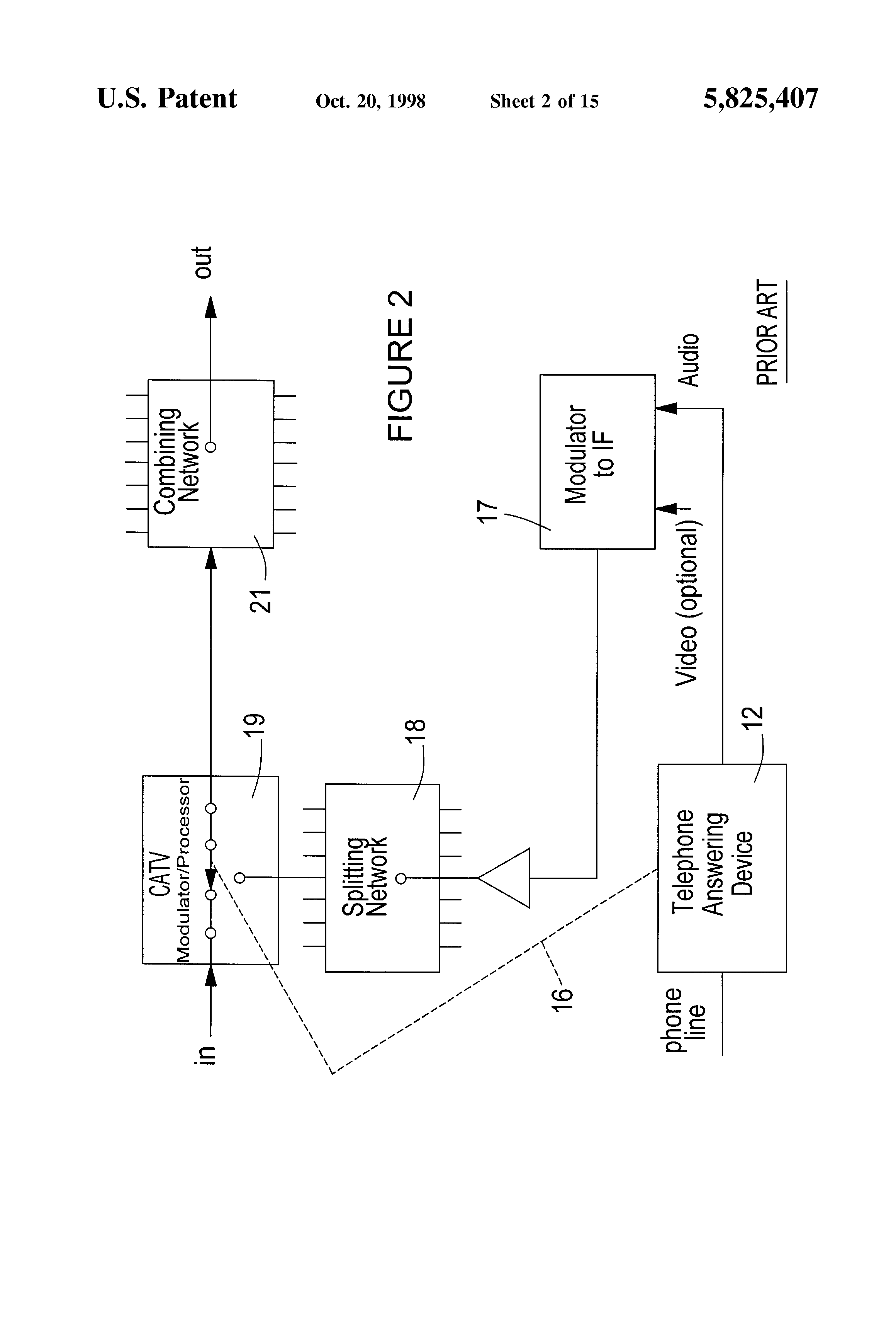 patent us5825407 - cable television audio messaging systems