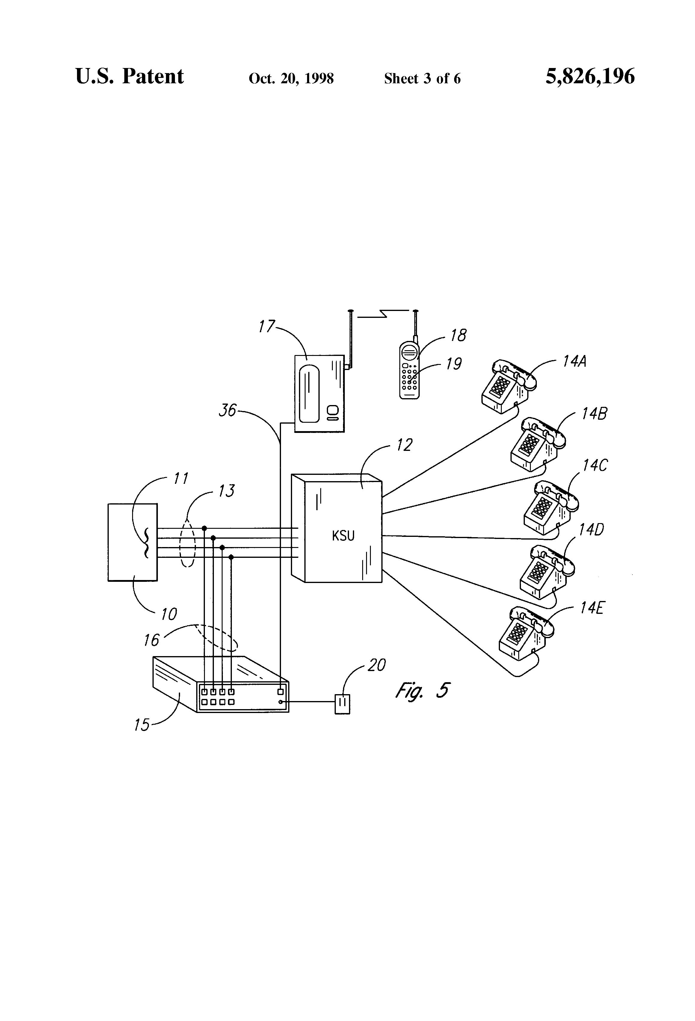 patent us5826196