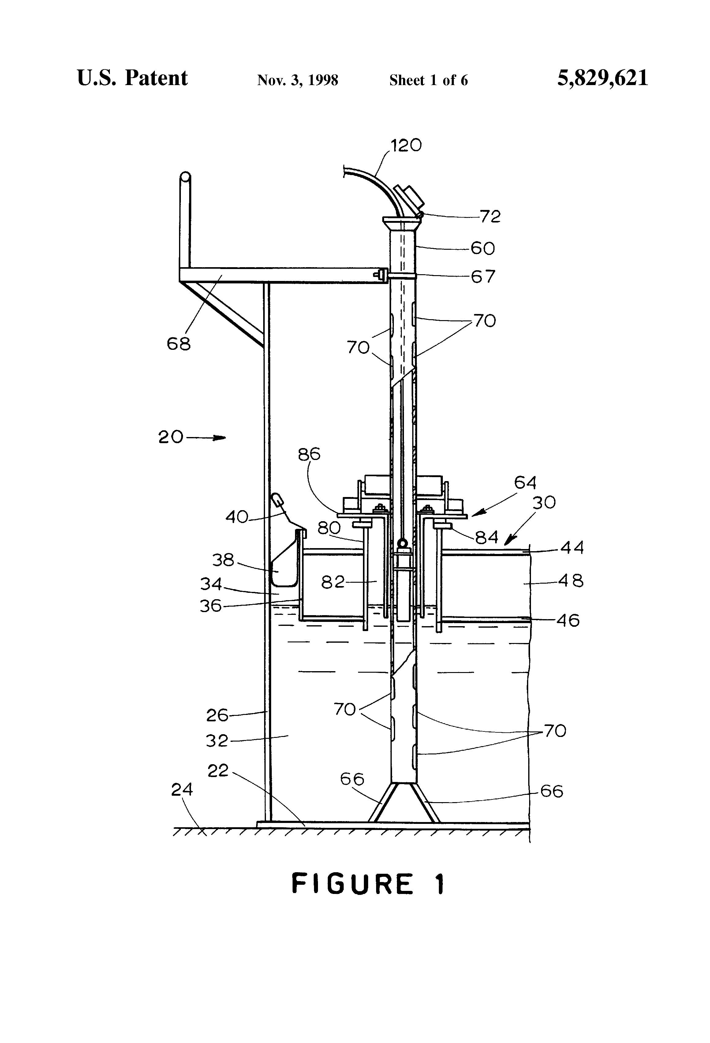 Patent Us5829621 Guide Pole Fitting Seal For Floating