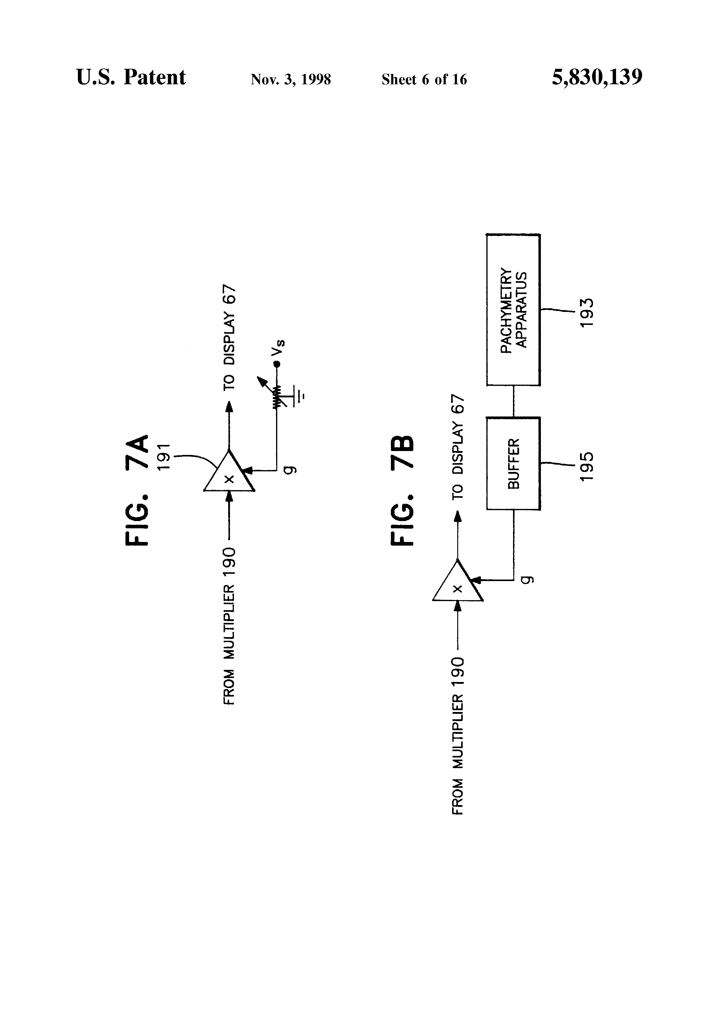 Patent Us5830139 Tonometer System For Measuring Intraocular