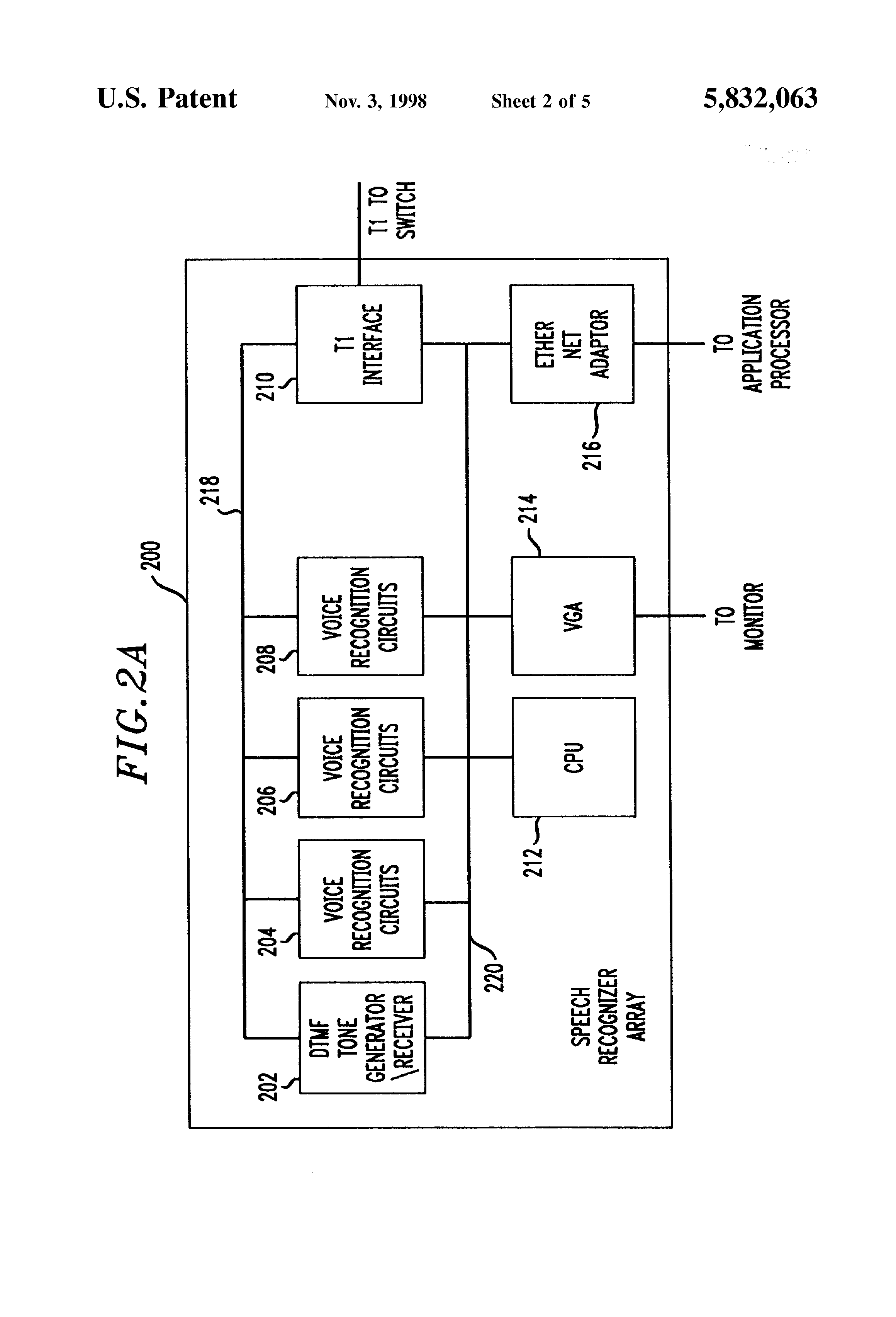Patent Us5832063 Methods And Apparatus For Performing Speaker Speech Recognition Circuit Drawing