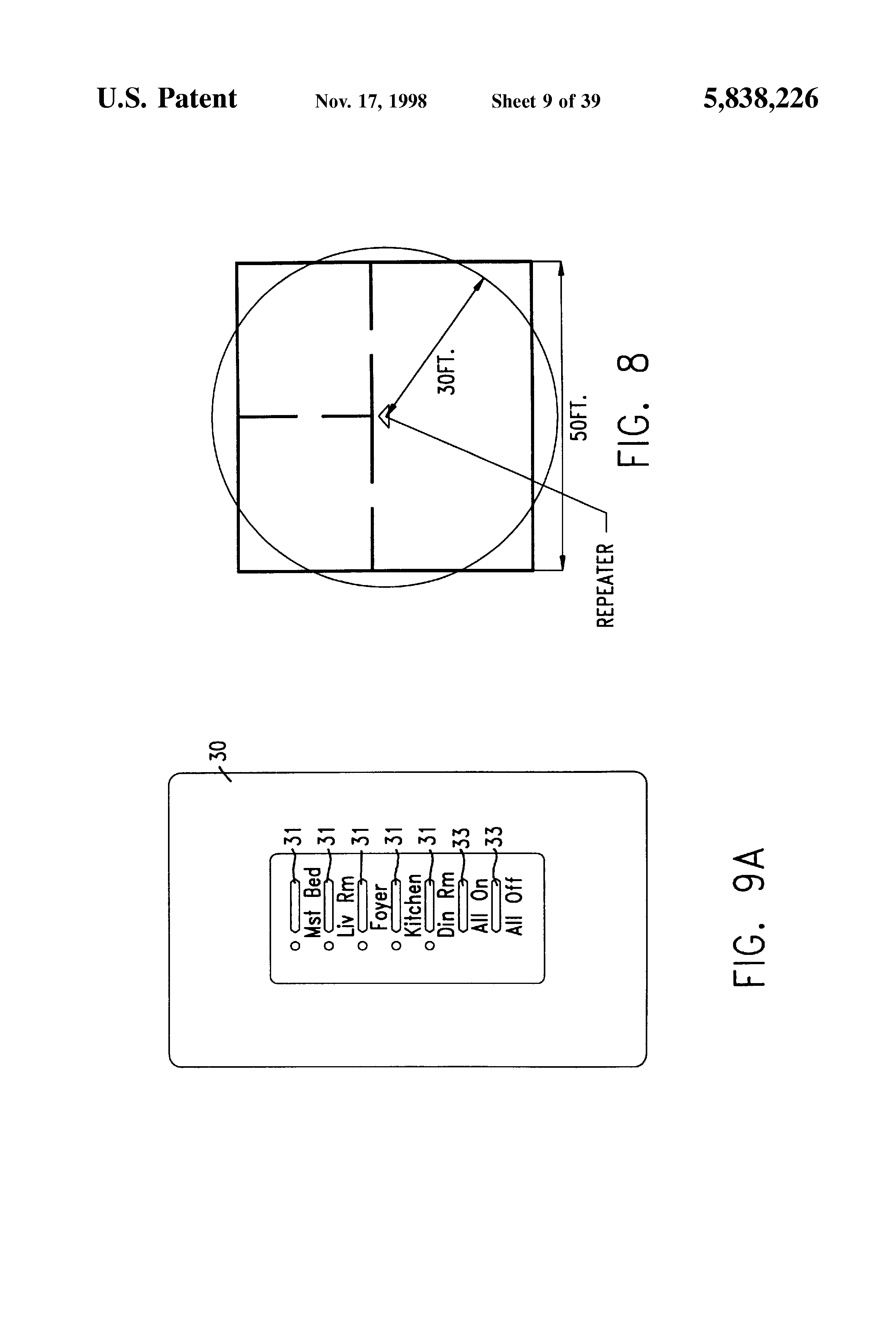Patent Us5838226 Communication Protocol For Transmission System Fig 2 Triple Gang Way Light Switch Drawing