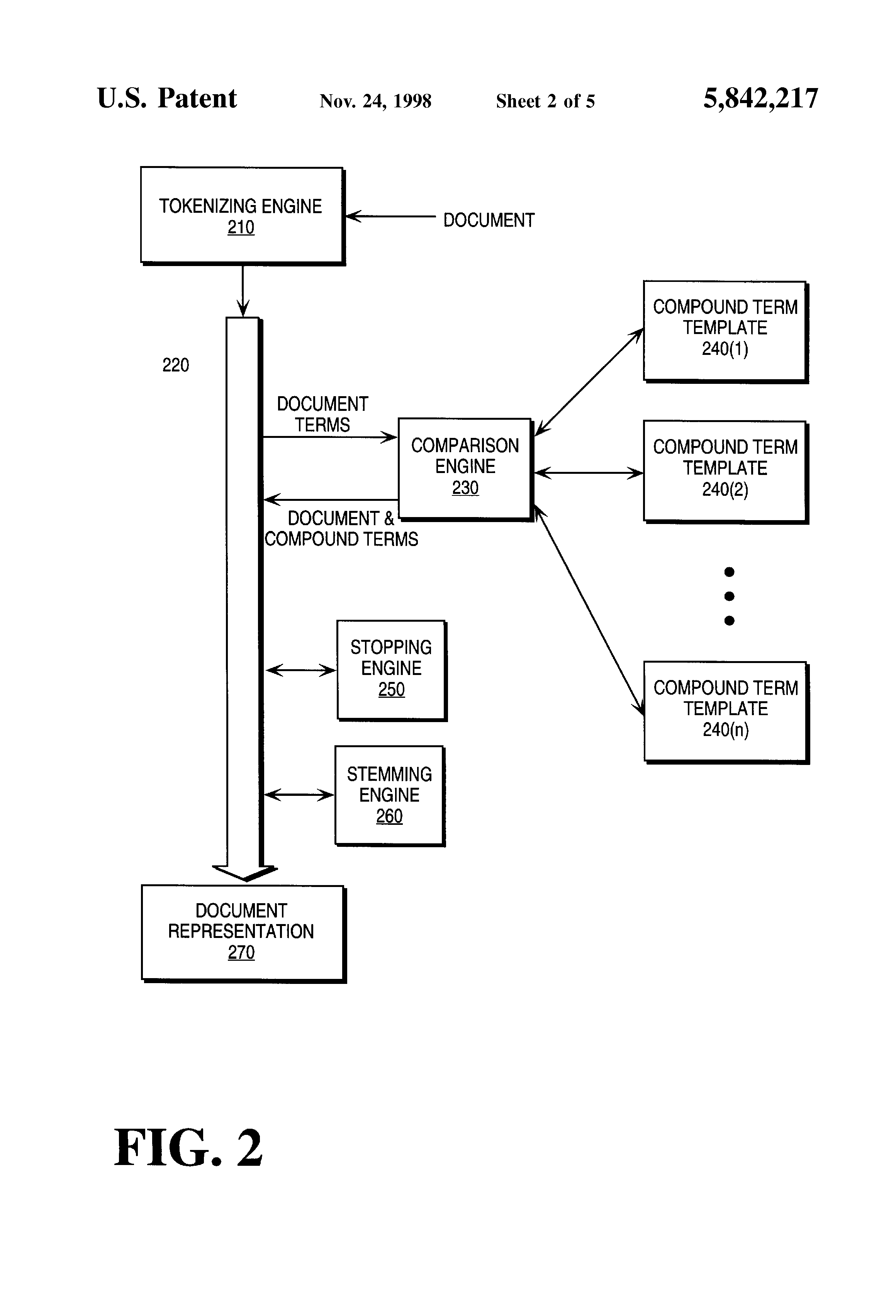 patent specification template - patent us5842217 method for recognizing compound terms