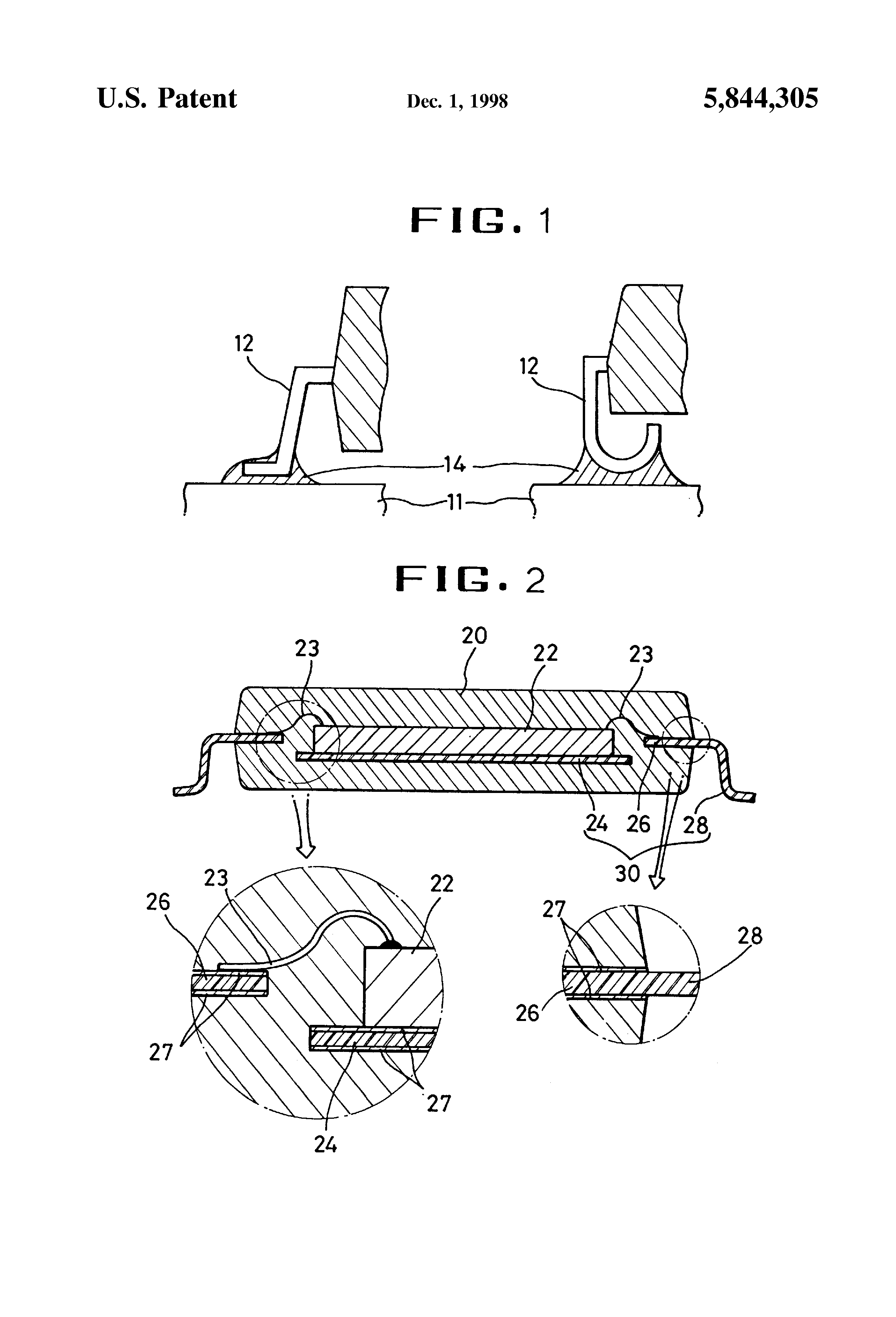 Patent US5844305 - Lead frame for semiconductor devices - Google Patents