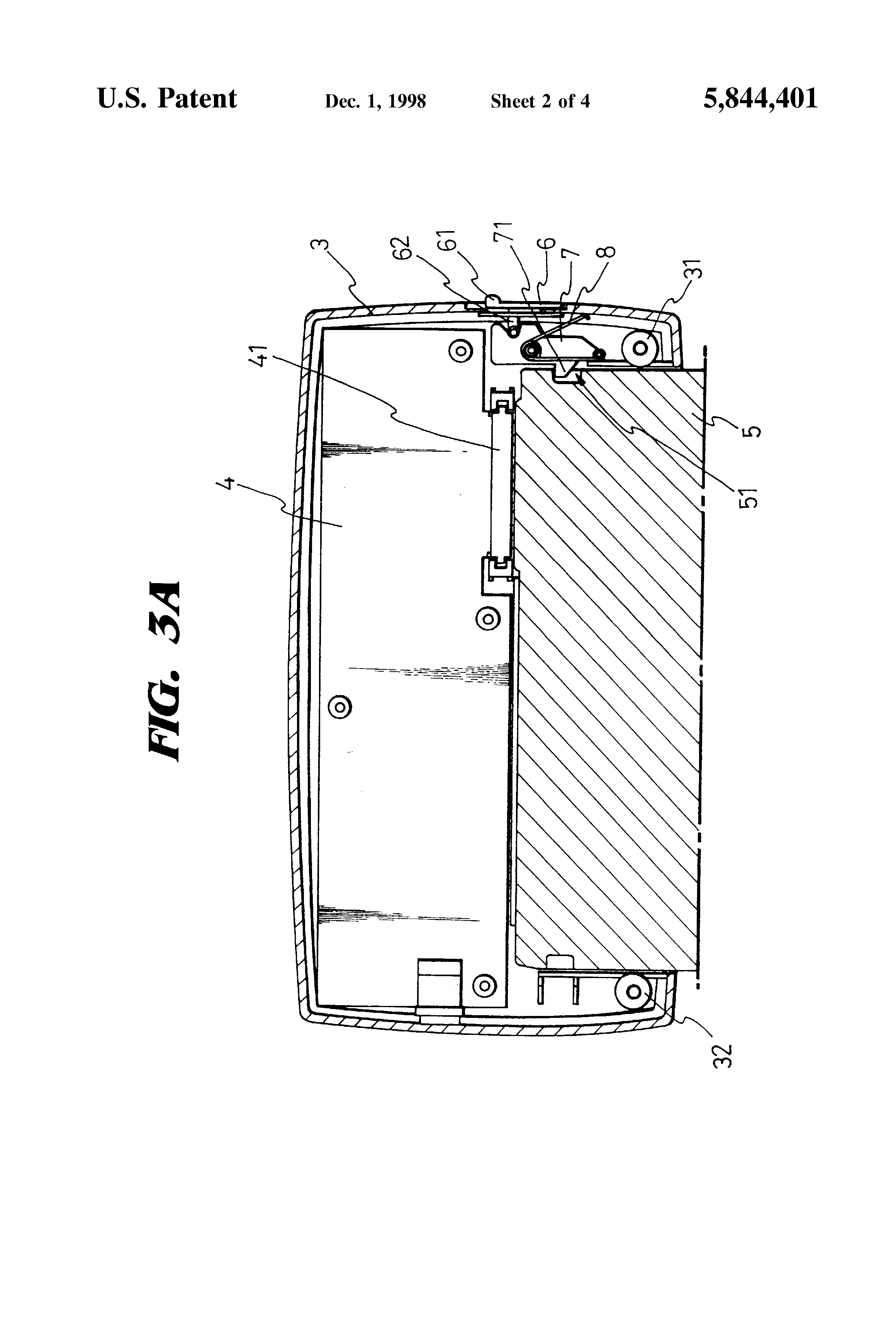 Patent US5844401 - Charging device for easy mounting/dismounting of on