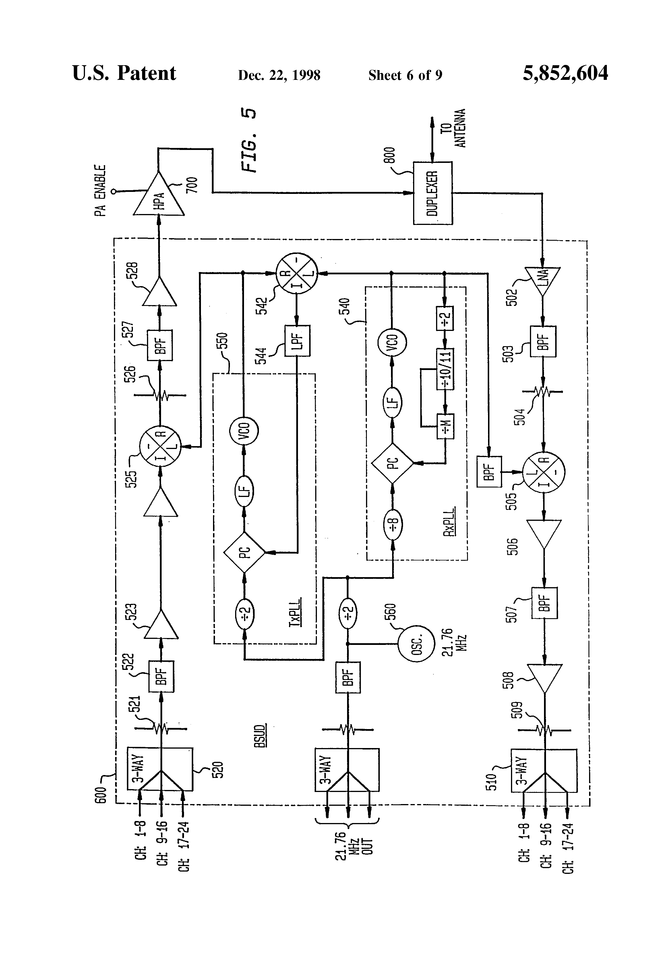 Patent Us5852604 Modularly Clustered Radiotelephone System Door Phone Intercom Circuit Schematic Duplex Circuits Gallery Drawing