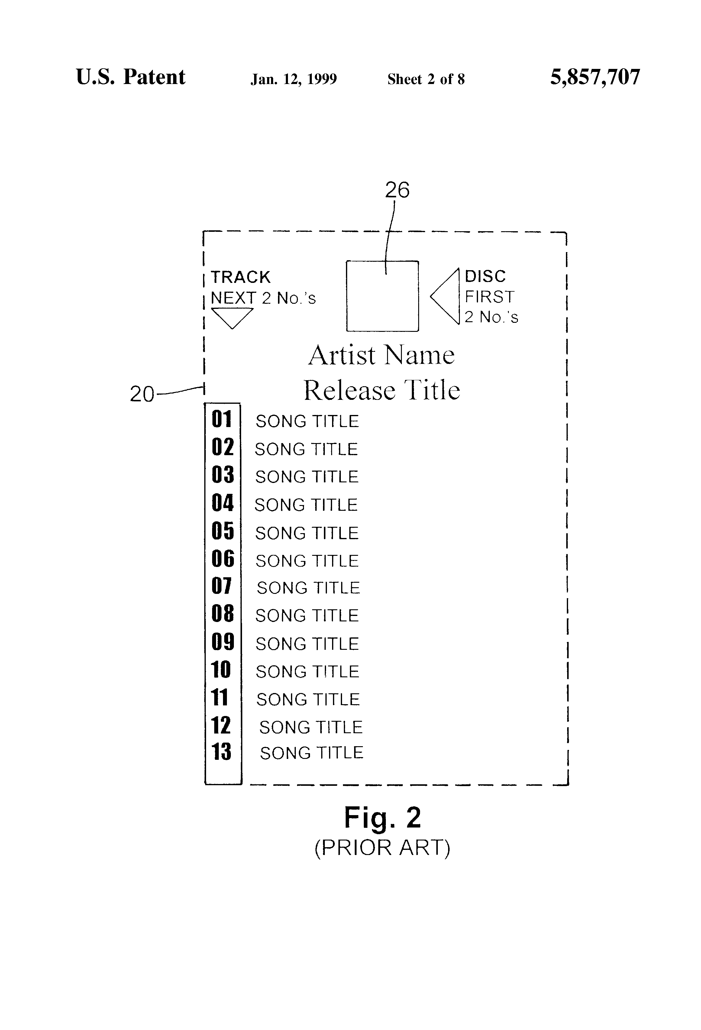 Patent us5857707 jukebox display strip and method of for Jukebox labels template
