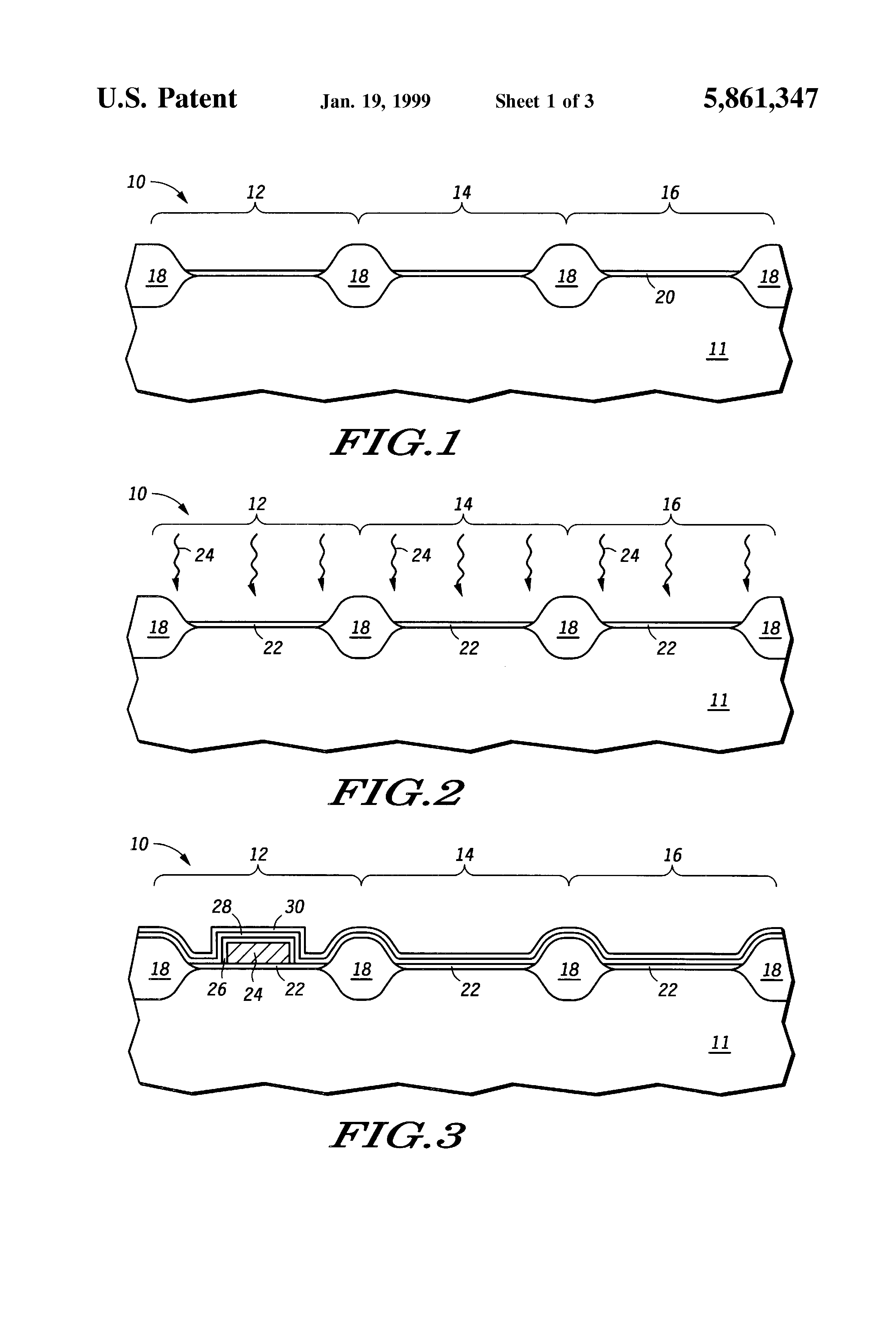 Patent Us5861347 Method For Forming A High Voltage Gate Dielectric Uses Of Integrated Circuit Drawing