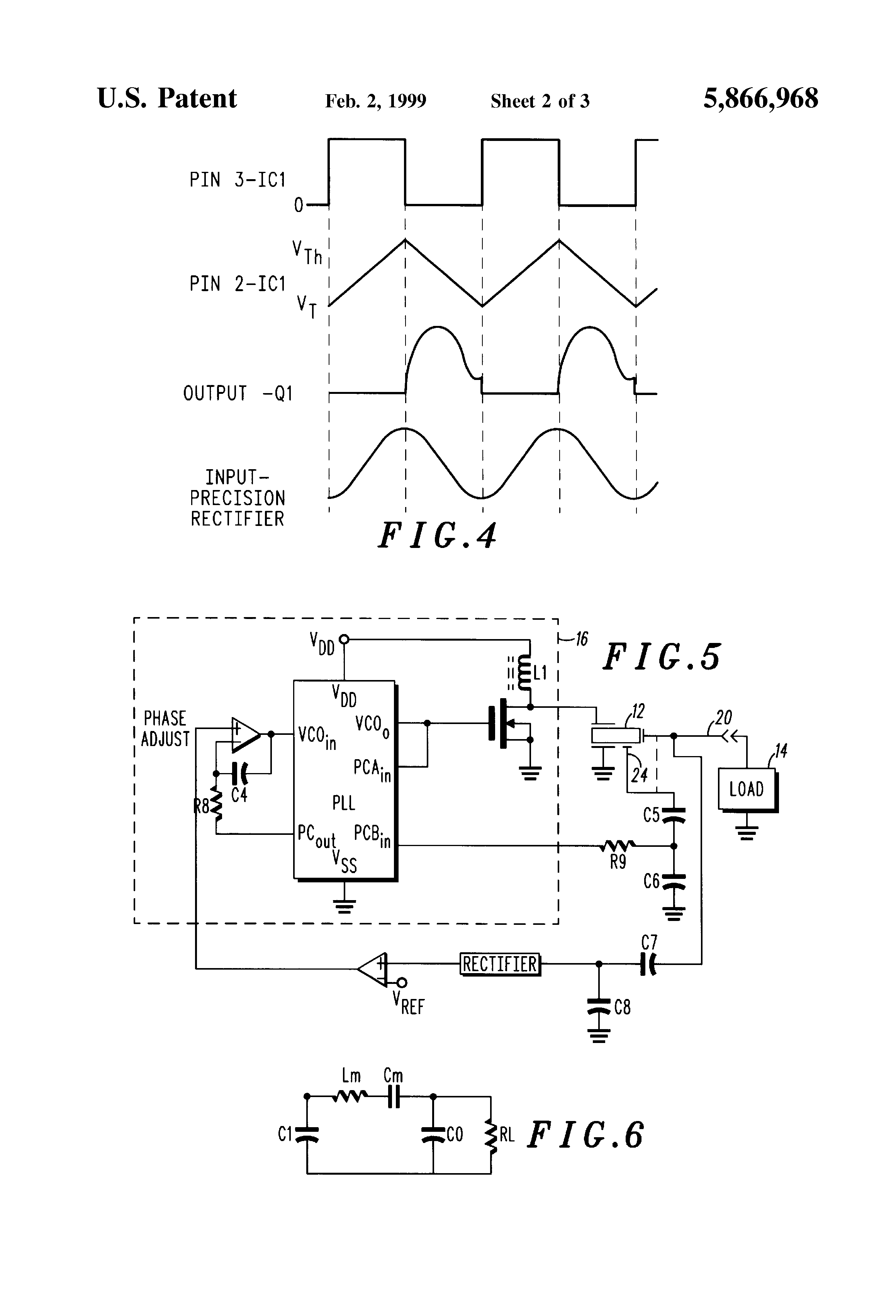 Patent Us5866968 Single Input Phase Locking Piezoelectric Highvoltage Amplifier Circuit Diagram For Ceramic Drawing