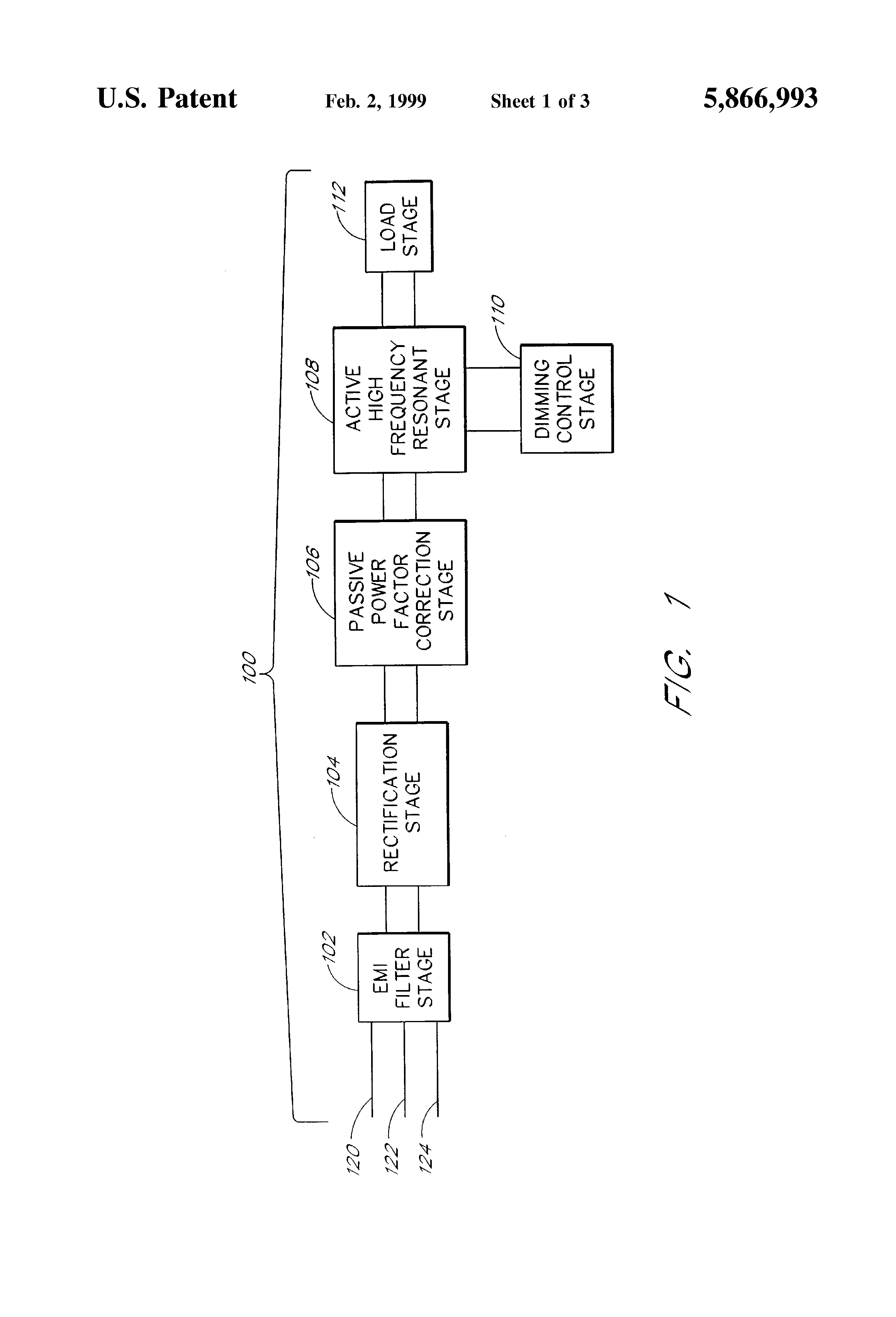 Patent Us5866993 Three Way Dimming Ballast Circuit With Passive Ge Wiring Diagram Drawing
