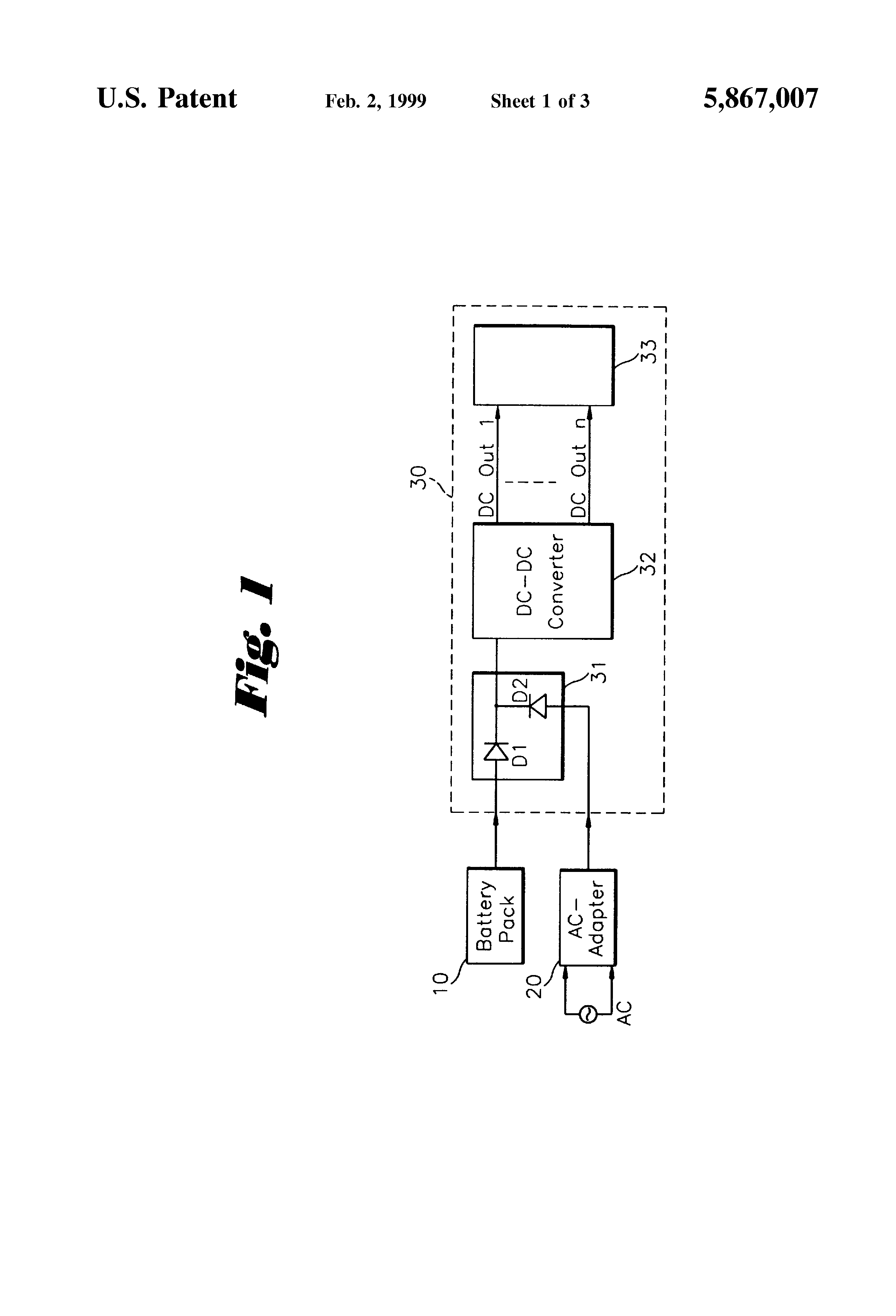 Patent Us5867007 Selection Circuit For Dual Batteries In A Battery Rechargeable Charger Diagram Powersupplycircuit Drawing