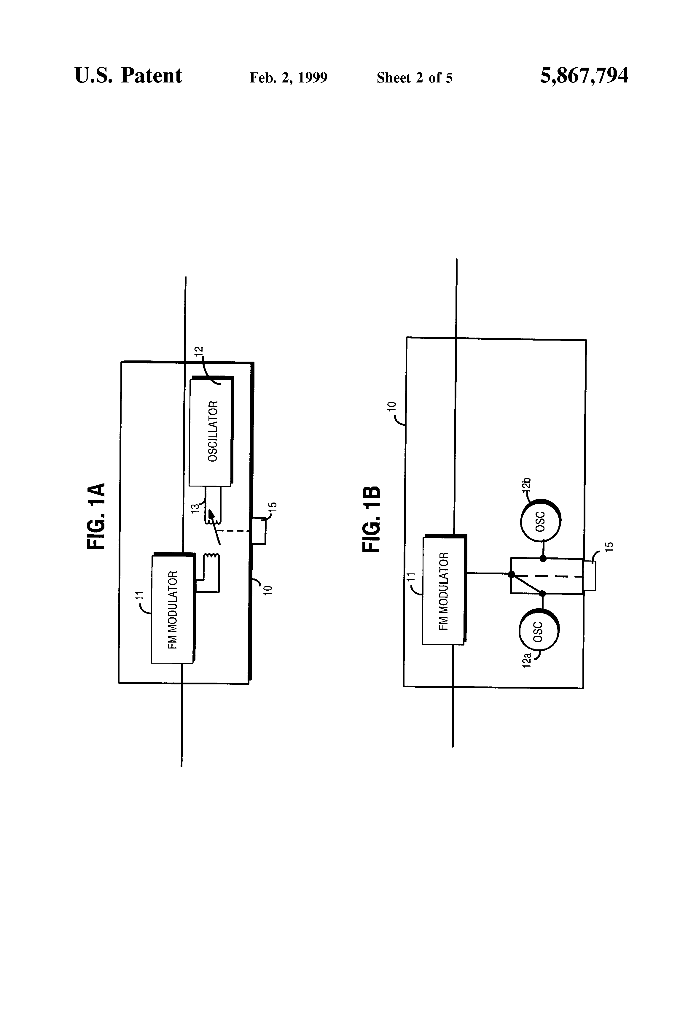 Patent Us5867794 Audio Output For A Portable Radio Telephone Figure 2 Fm Stereo Transmitter Schematic Drawing