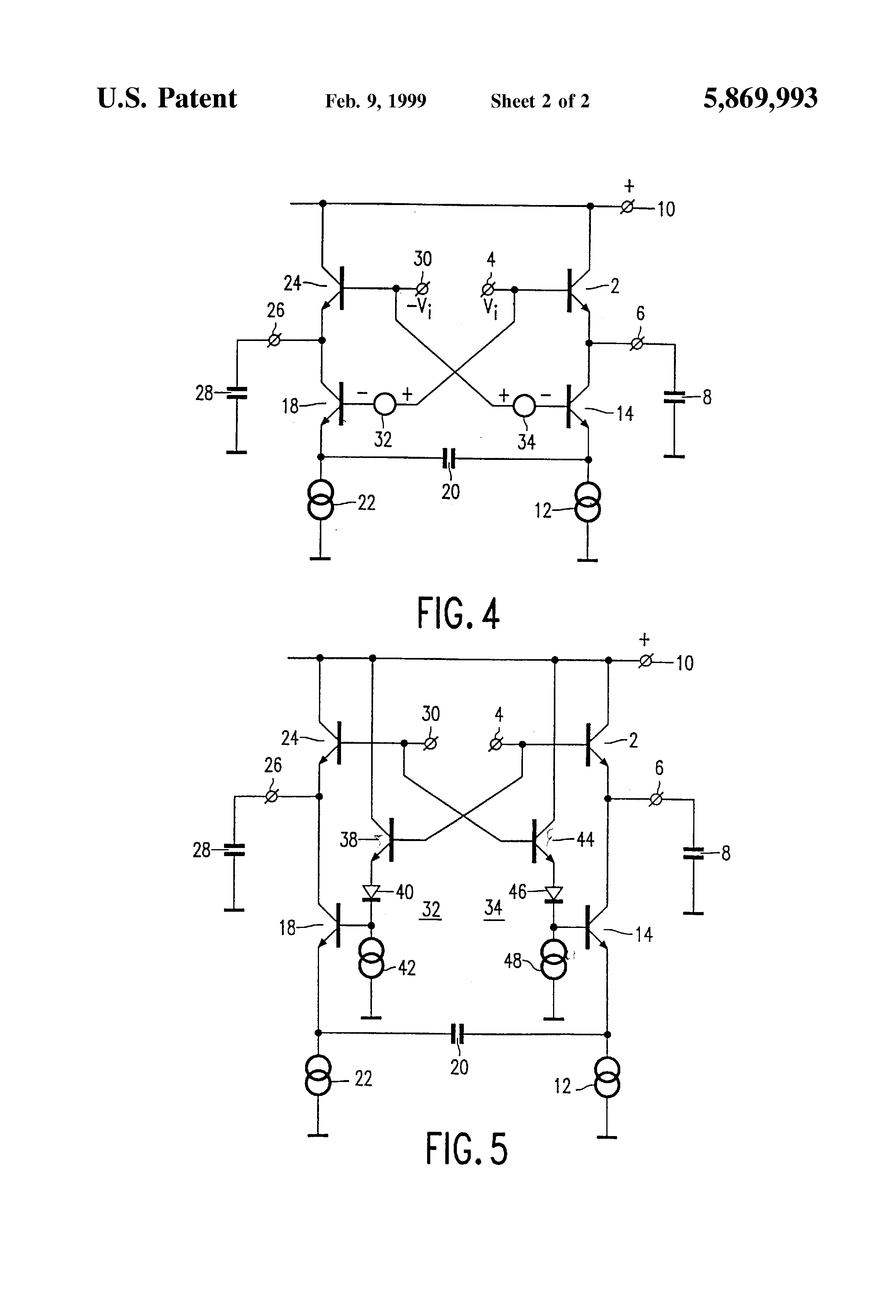 Patent Us5869993 Distortion Compensation For A Capacitively Loaded Emitter Follower Circuit Drawing