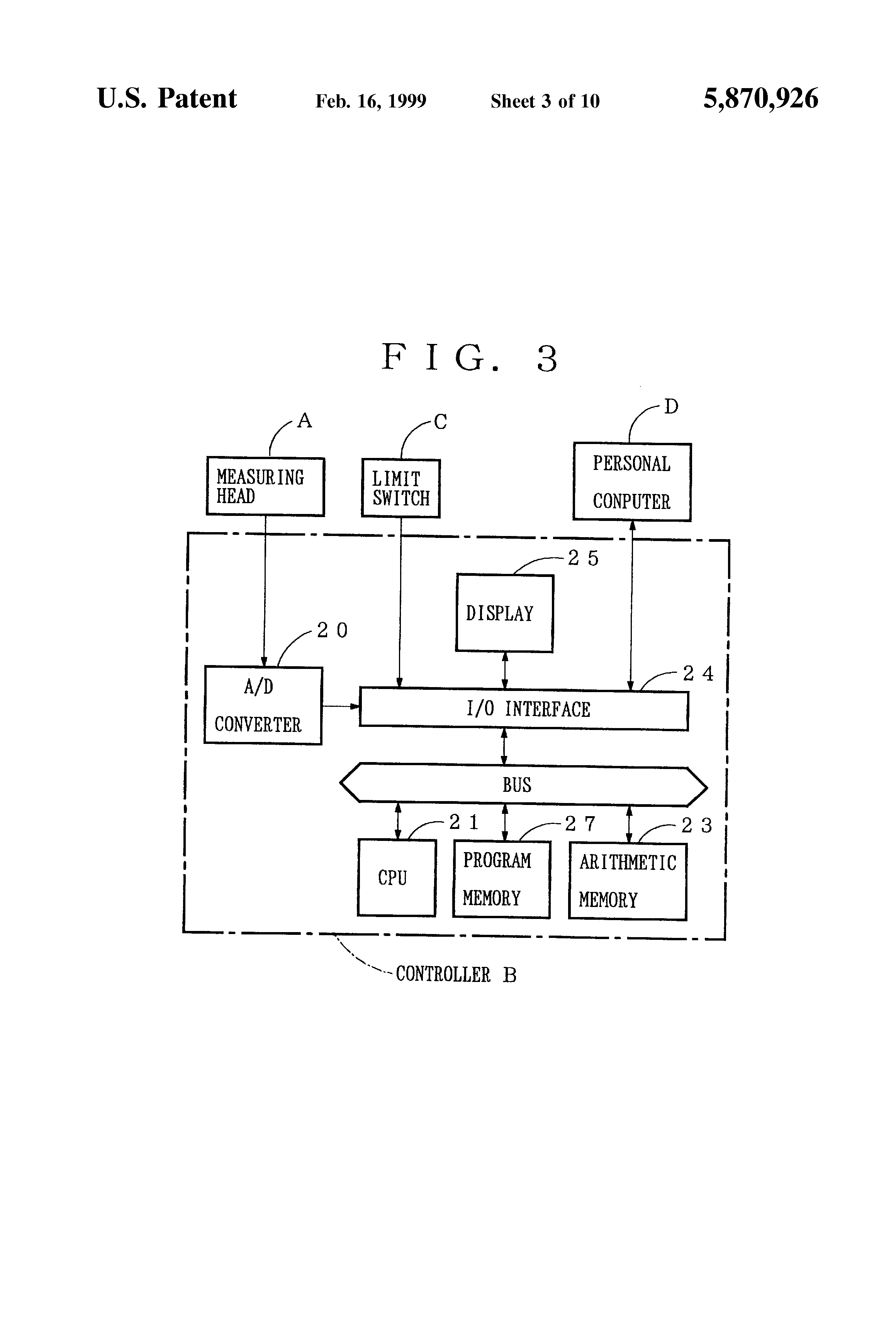 Us5870926 Infrared Moisture Measuring Apparatus And Control Circuit Diagrams Together With Digital Volume Patent Drawing