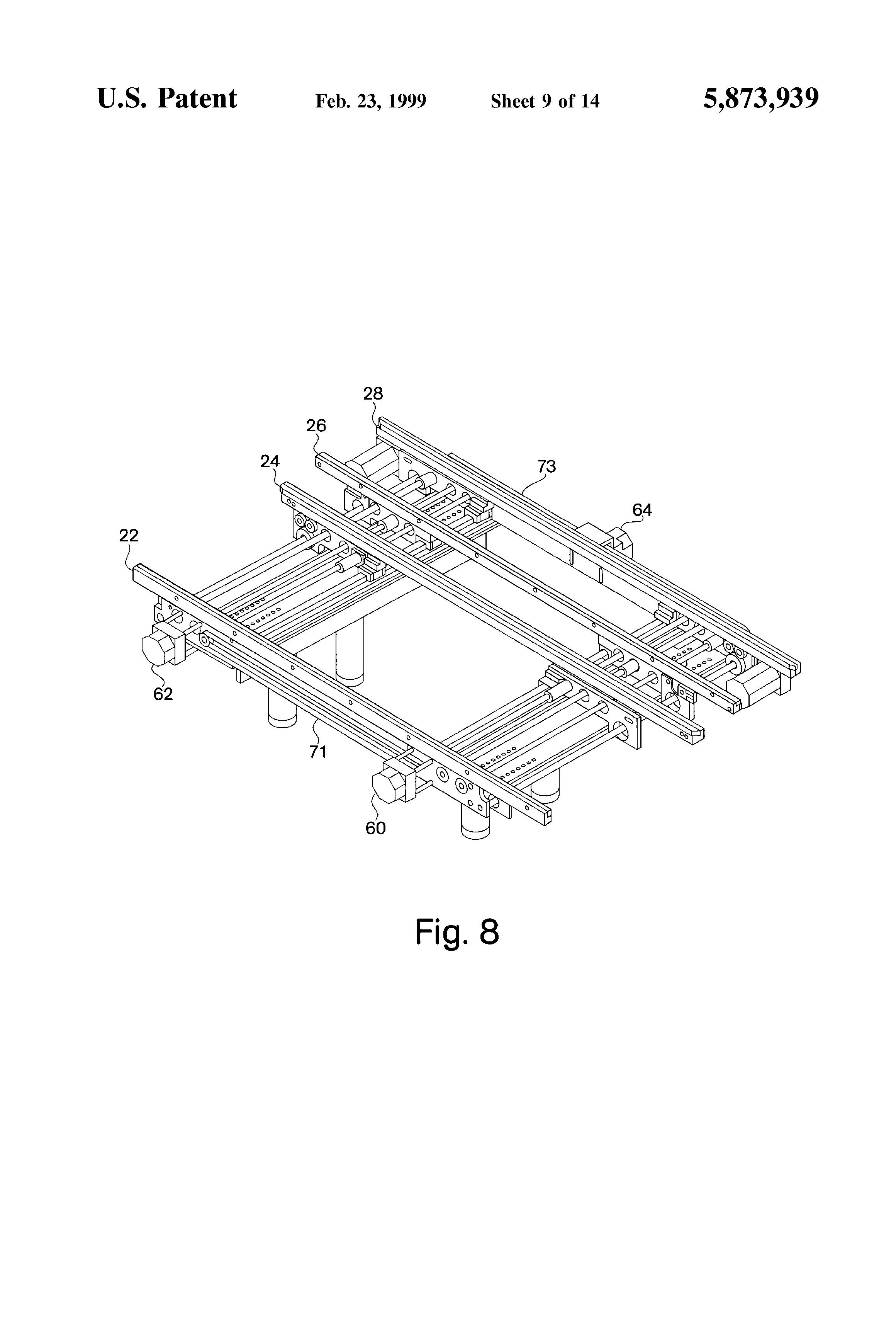 Patent Us5873939 Dual Track Stencil Screen Printer Google Patents Printing Machine Circuit Board Mpm Printers Drawing
