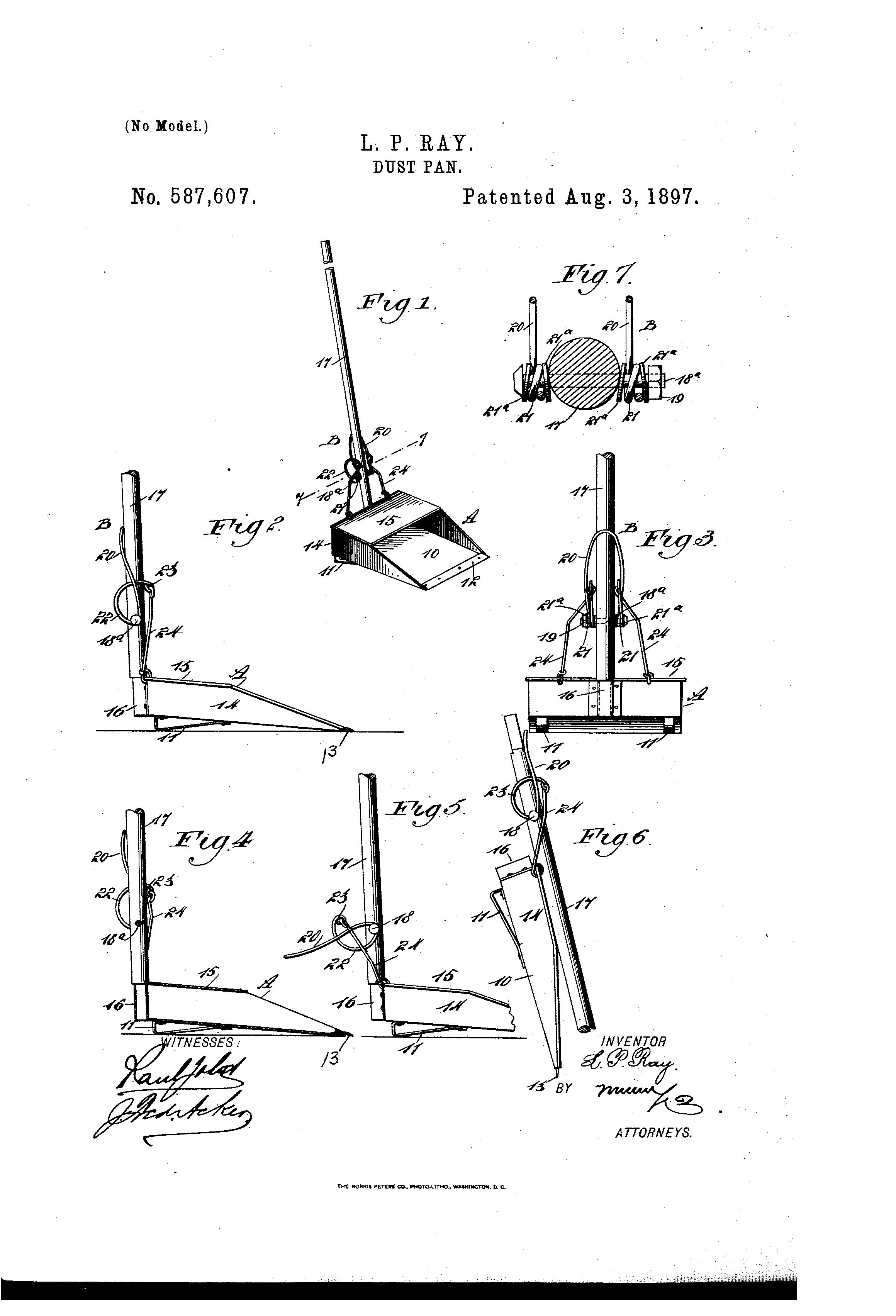 Patent Us587607 Dust Pan Google Patents