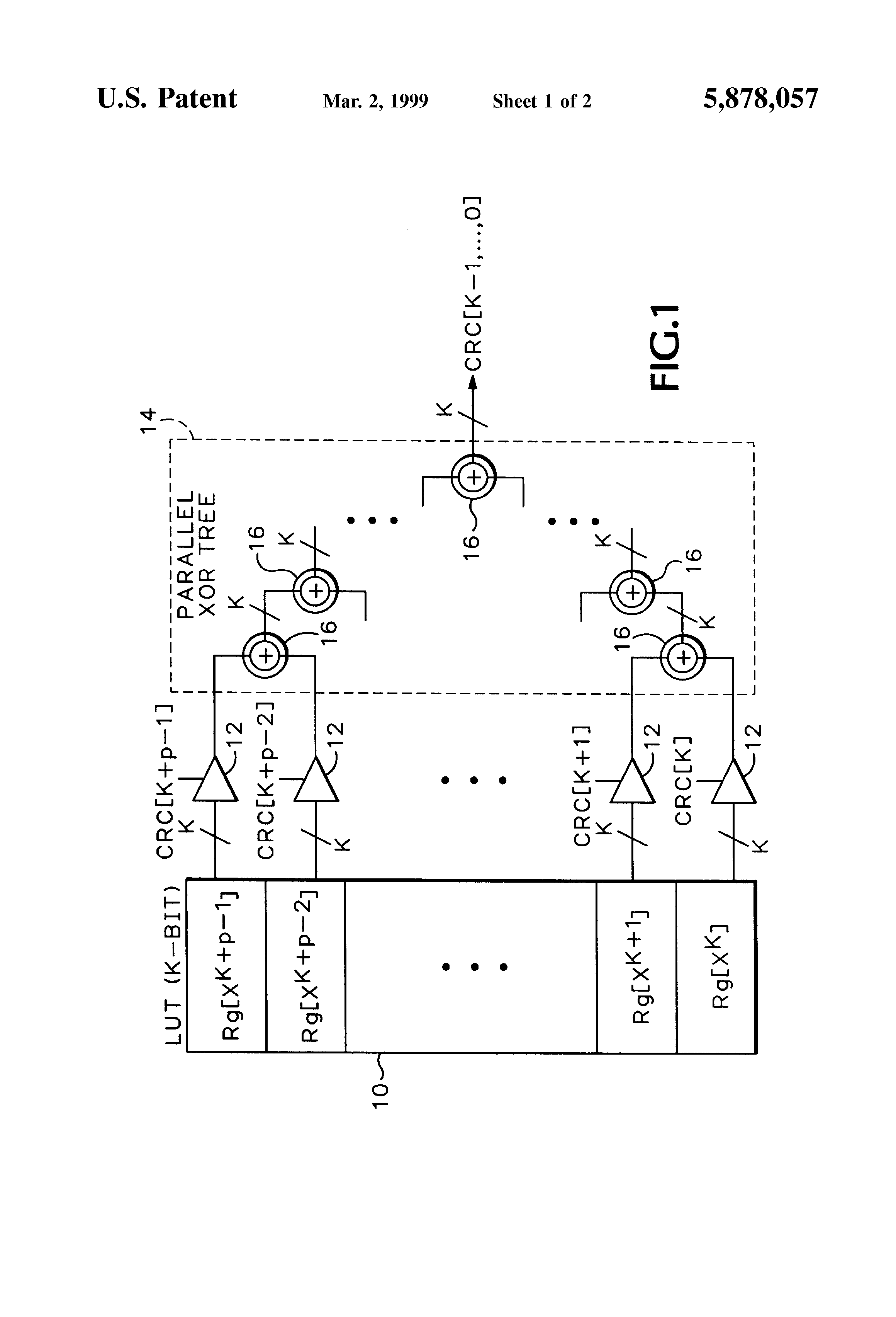 Patent US5878057 - Highly parallel cyclic redundancy code
