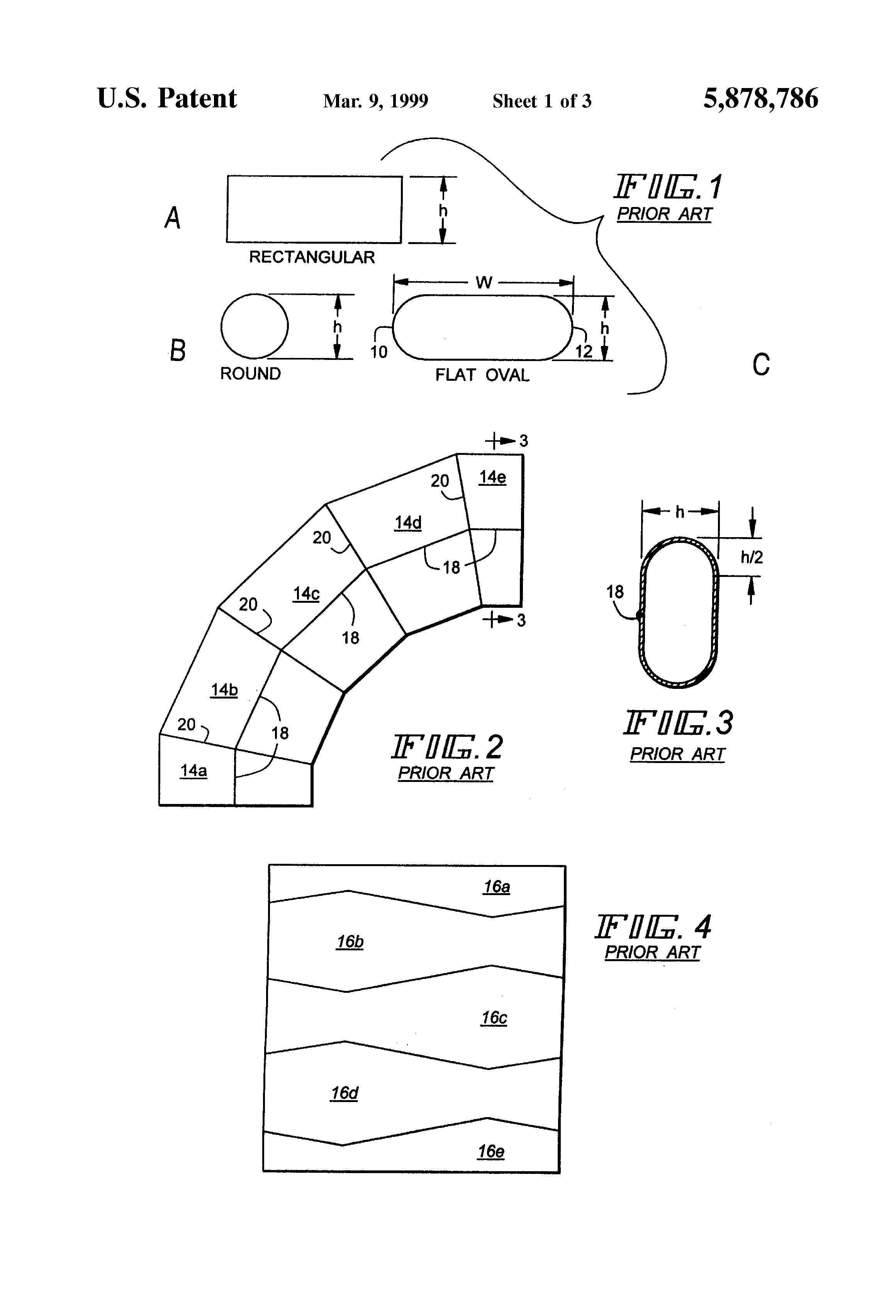 Brevet US5878786 - Otangular fitting family for flat-oval