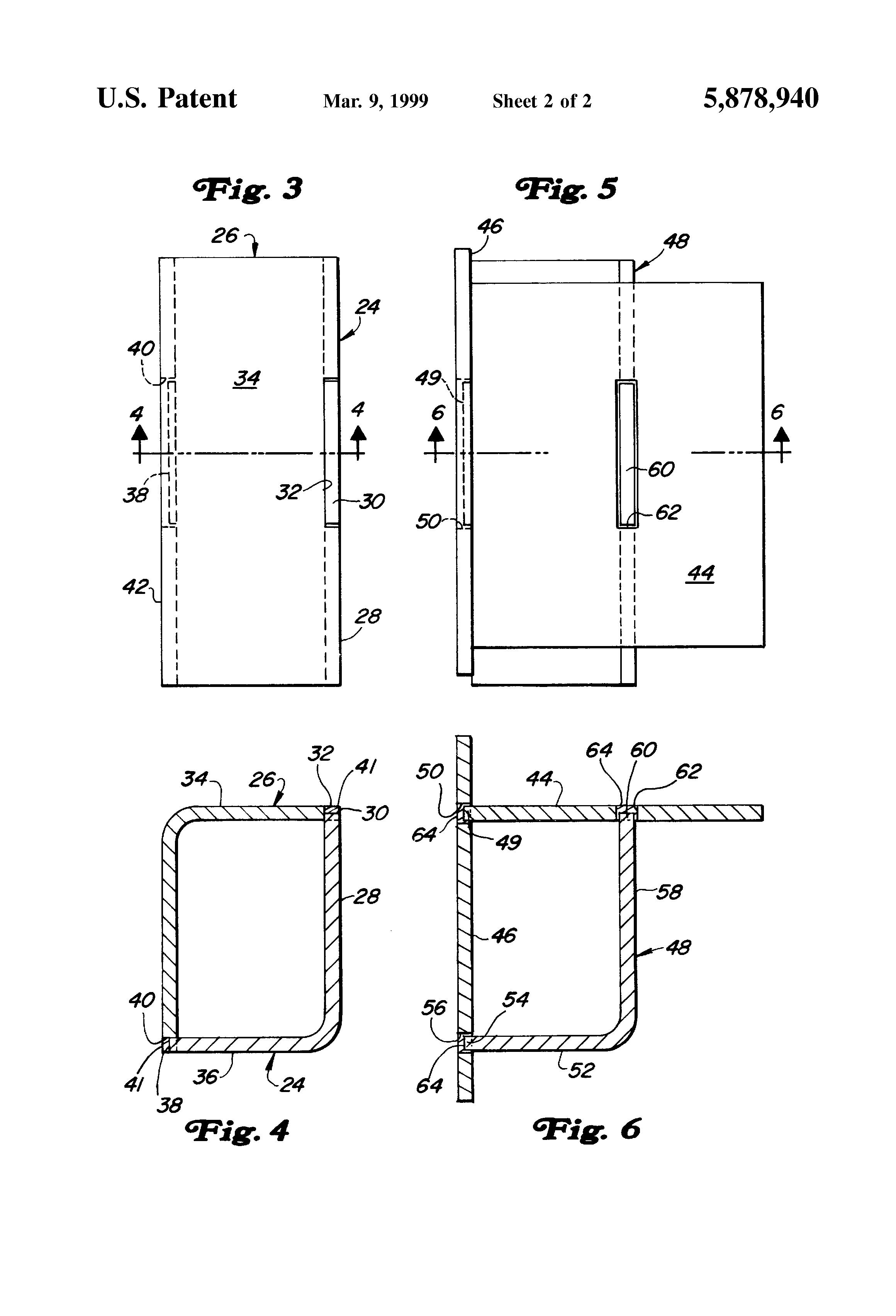 Patent Us5878940 Method Of Fabricating Sheet Metal