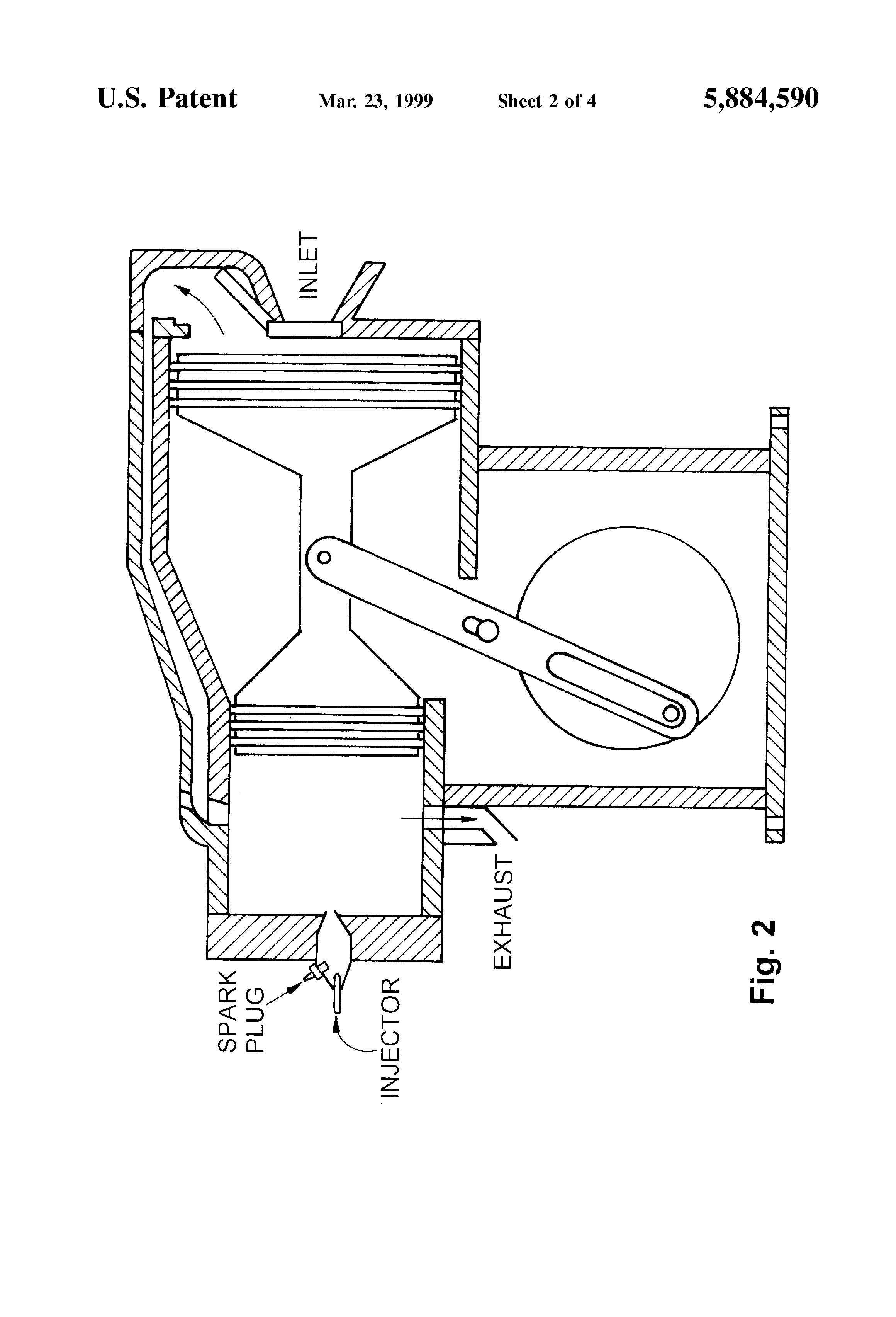 patent us5884590 - two-stroke engine
