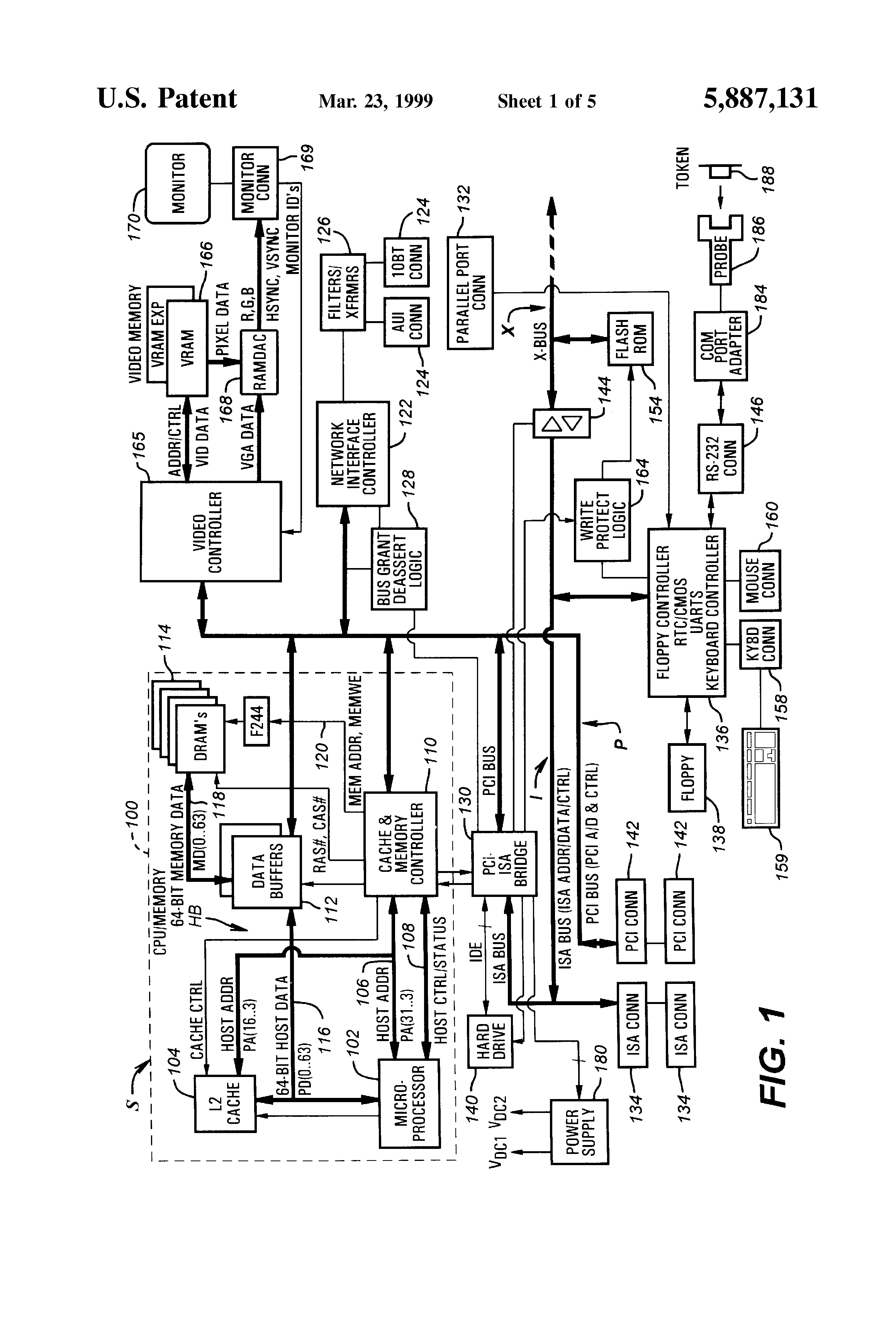 Patent Us5887131 Method For Controlling Access To A Computer Logic Diagram Isa Drawing