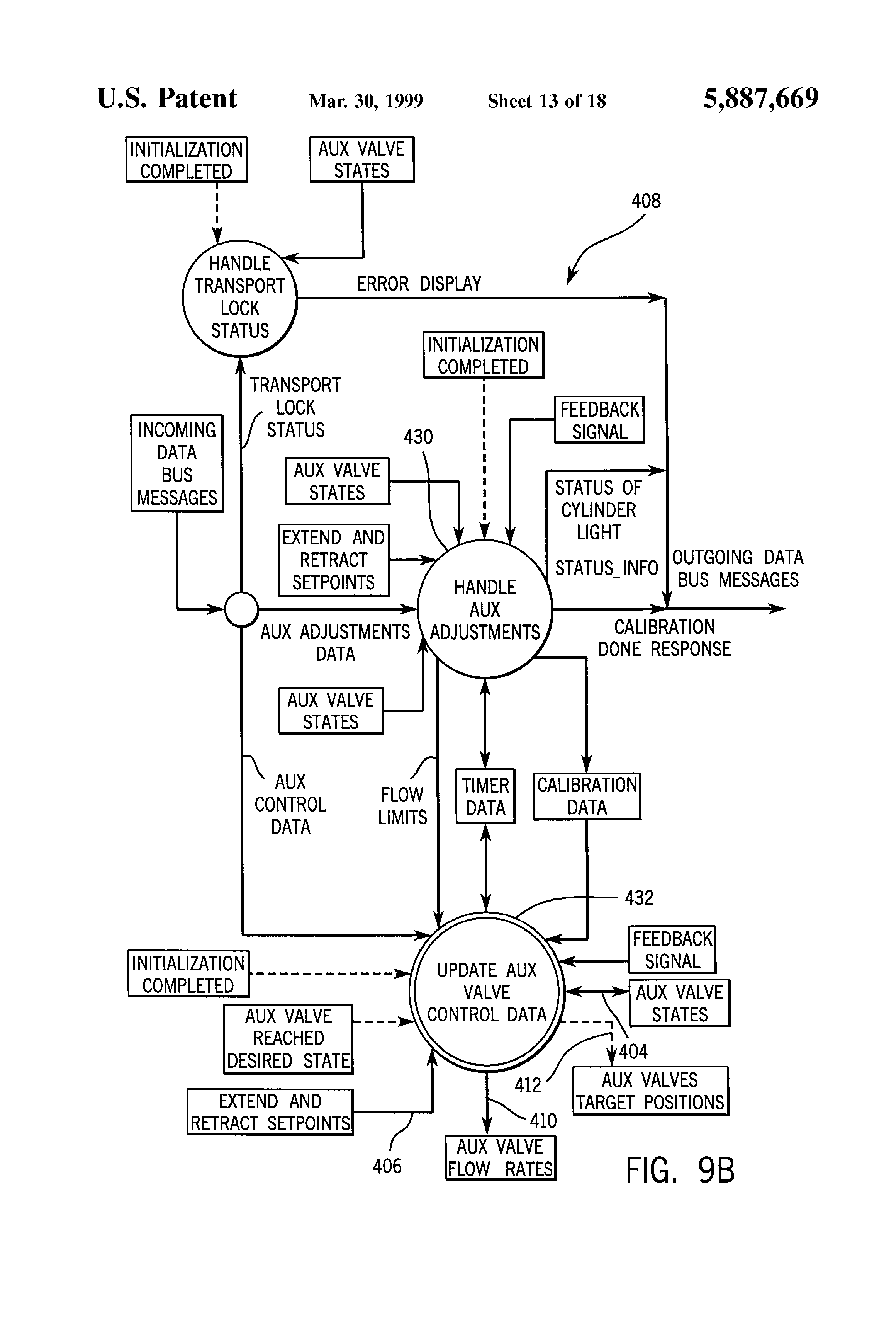 Peterbilt Tractor Wiring Diagram Master Blogs Patent Us5887669 Auxiliary Hydraulic Control System 2009 335 Headlight 98 379