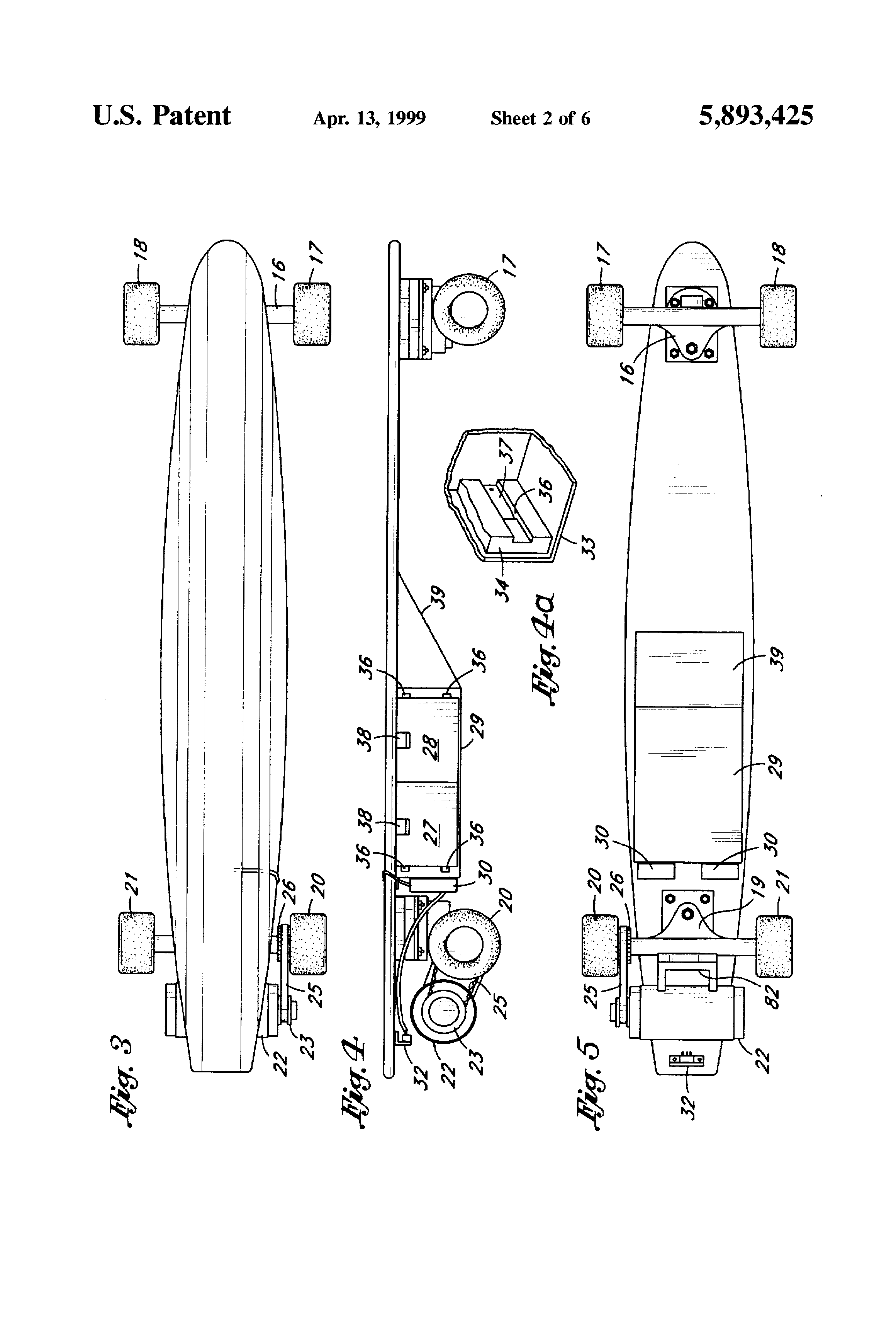 Patent Us5893425 Remote Control Electric Powered