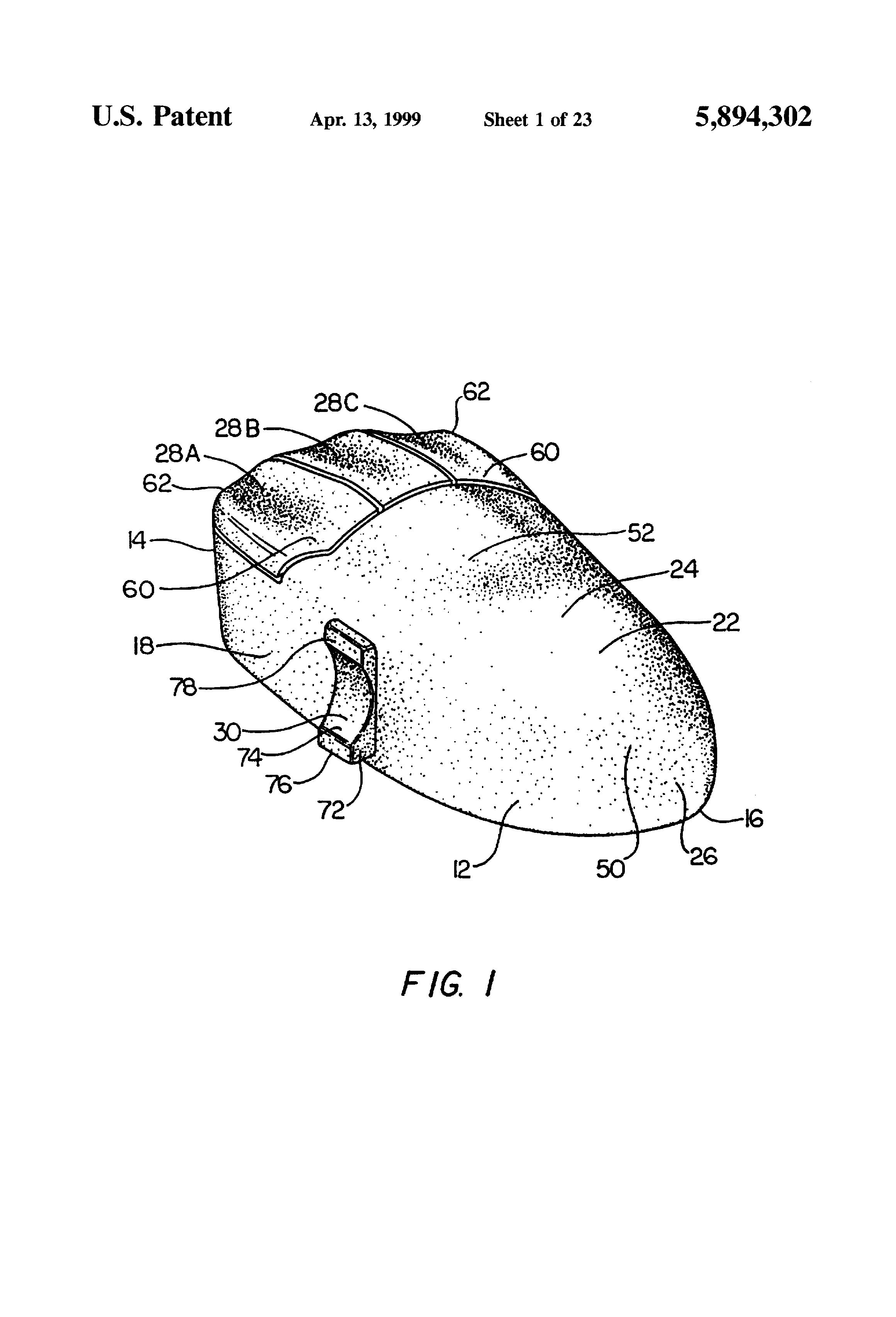 Patent Us5894302 Ergonomic Housing For A Computer Mouse Google Diagram Drawing